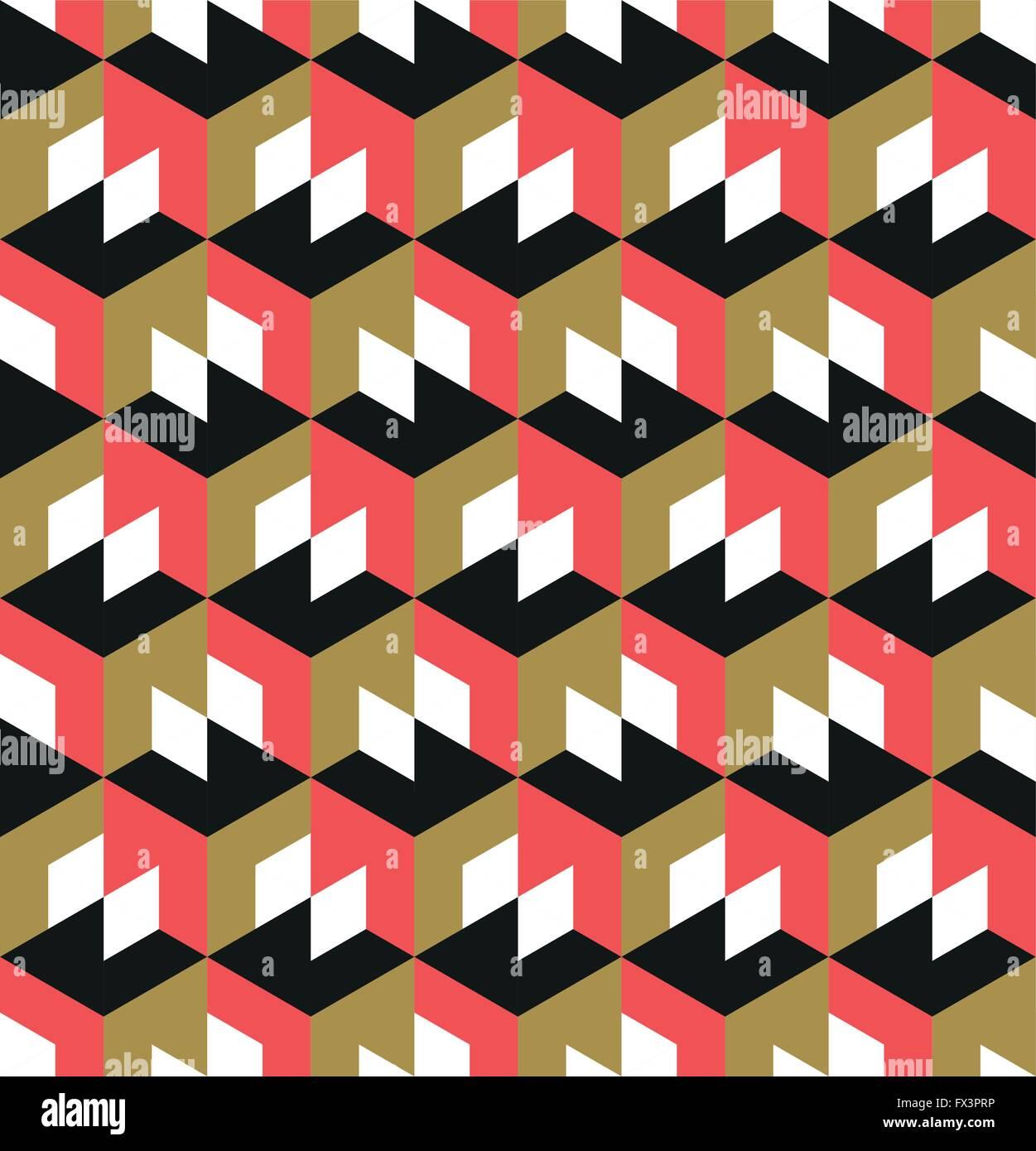 Nahtlose geometrische Muster. Abstrakten geometrischen Hintergrund-Design. Vektor-Illustration. Stockbild
