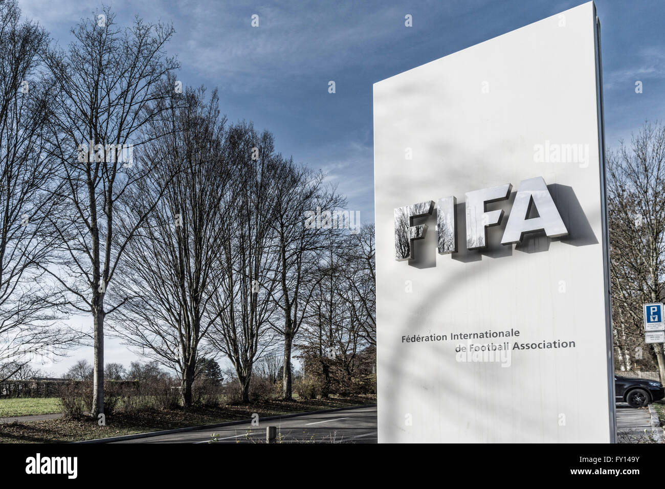 FIFA, Fédération Internationale de Football Association, Zürich Stockbild