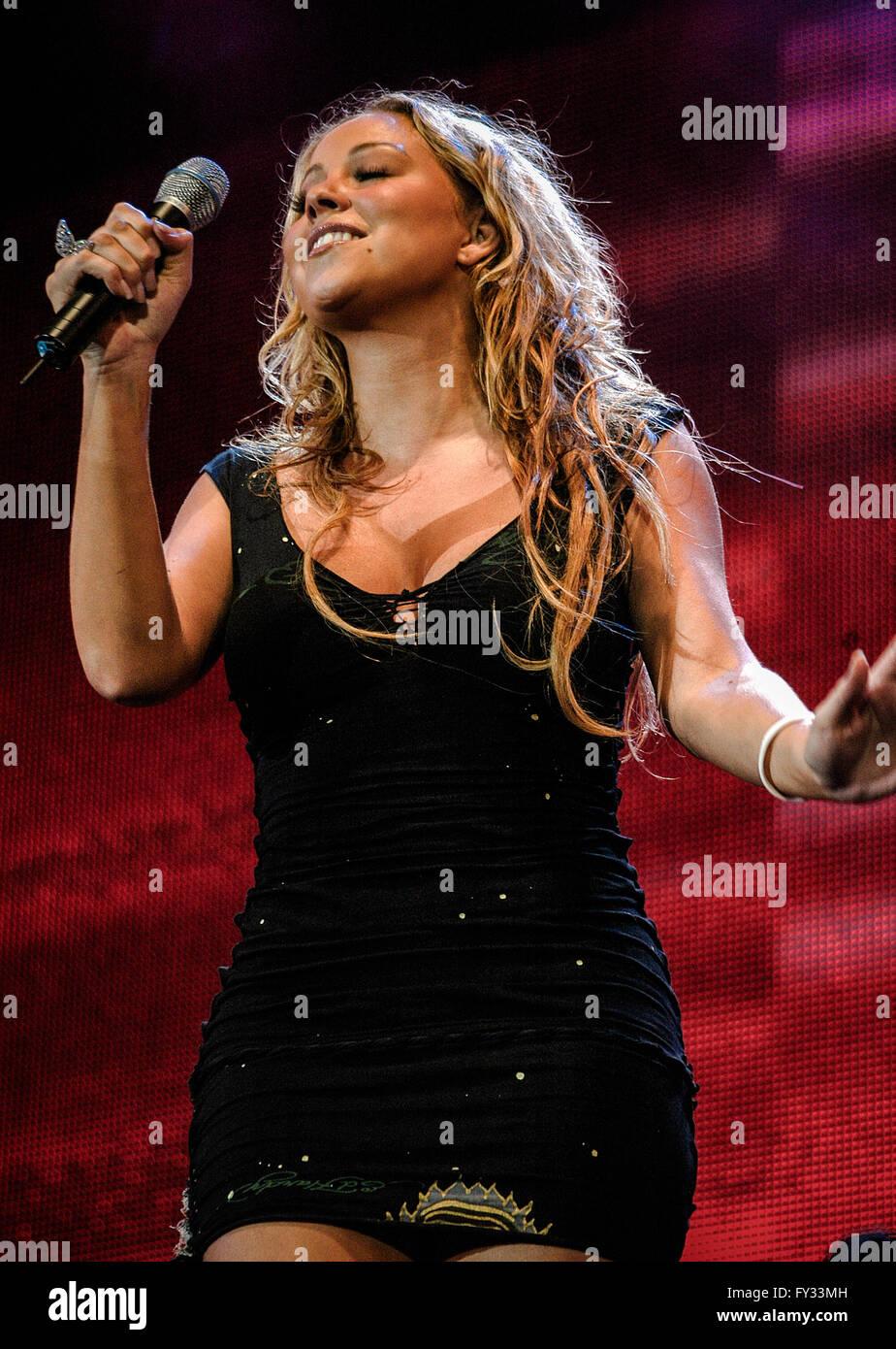 Live 8 am Hyde Park, London. 2 Juli 2005.Mariah Carey Stockbild