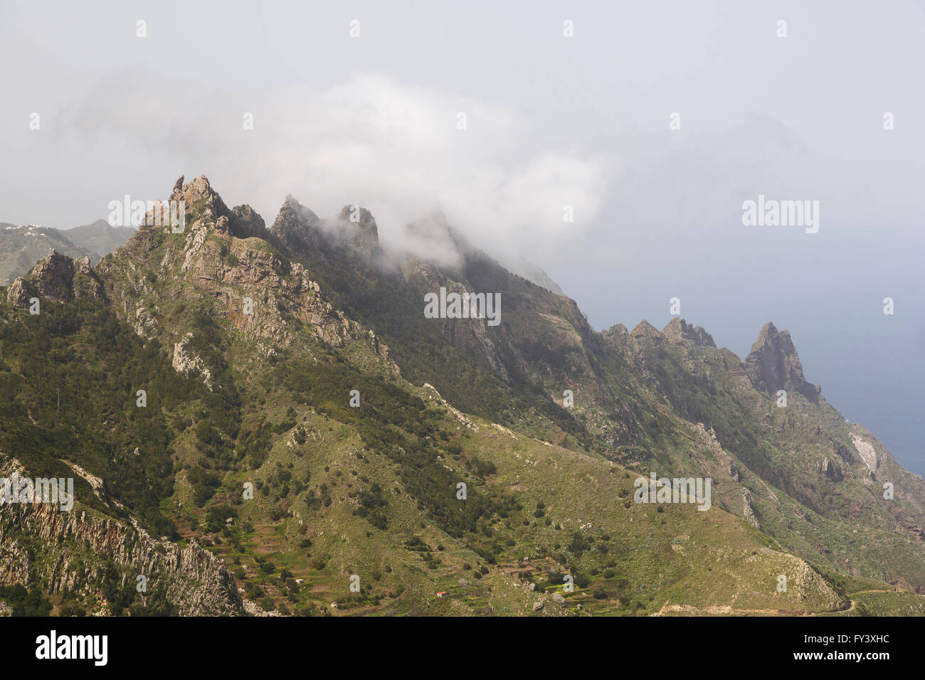 Berge, Agana Halbinsel, Teneriffa, Kanarische Inseln, Spanien Stockfoto