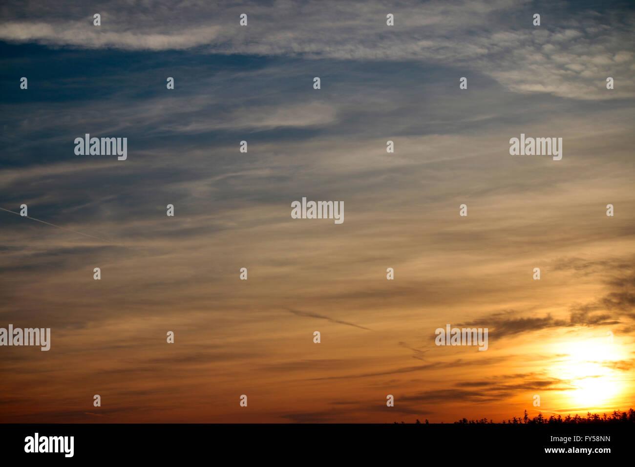 Himmel, Brandenburg. Stockbild
