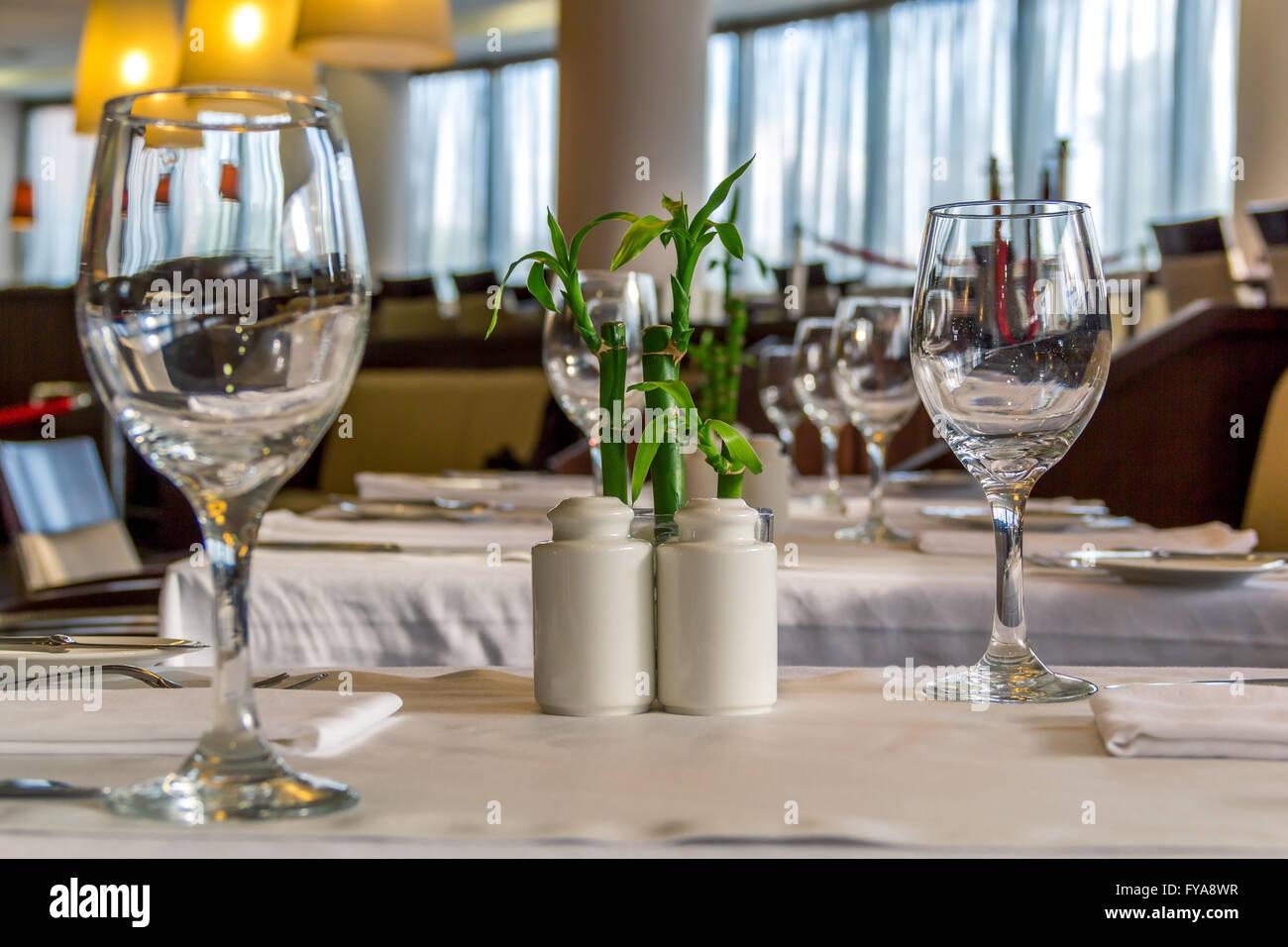 Gehobene Küche in einem feinen restaurant Stockbild