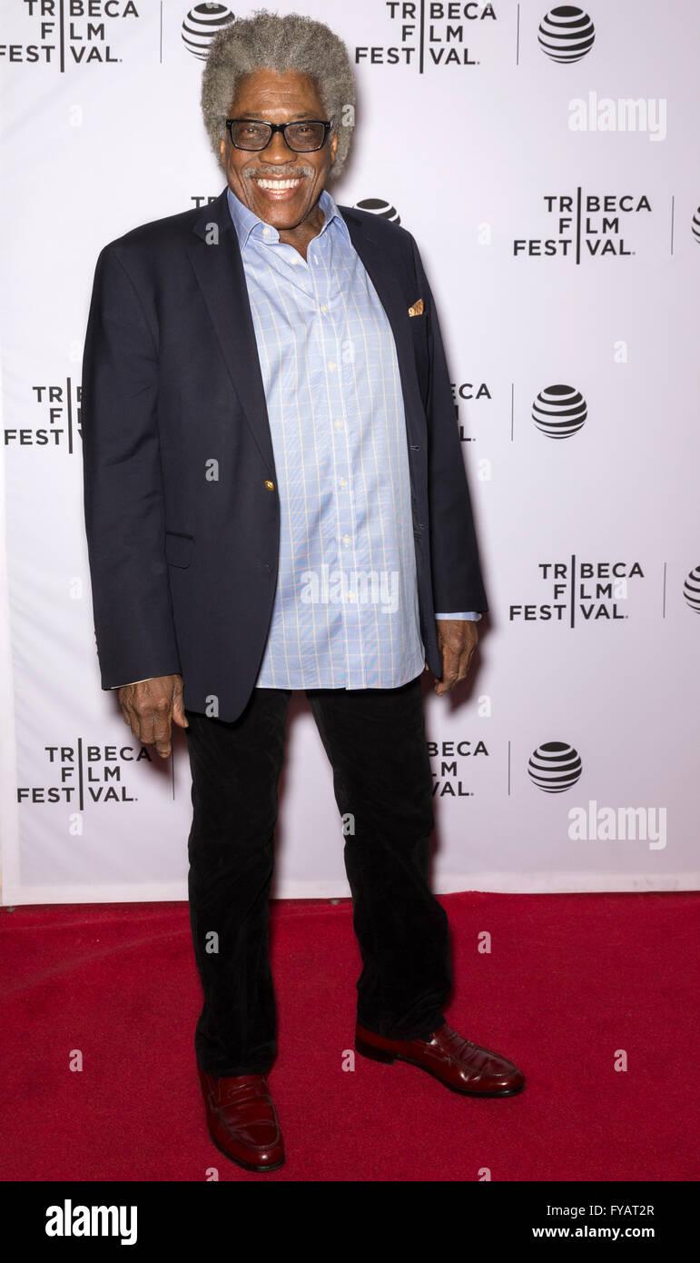 New York City, USA - 24. April 2016: Schauspieler Ira Hawkins besucht die fast Paris Premiere beim Tribeca Film Stockbild