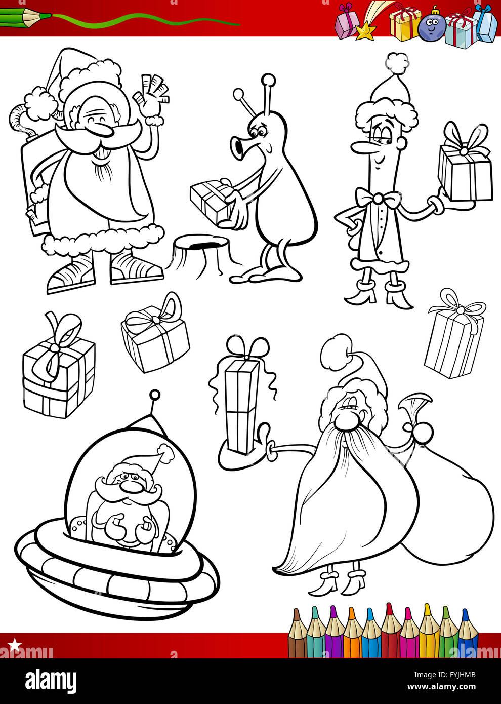Santa Claus Weihnachten Malvorlagen Stockfoto, Bild: 103056587 - Alamy