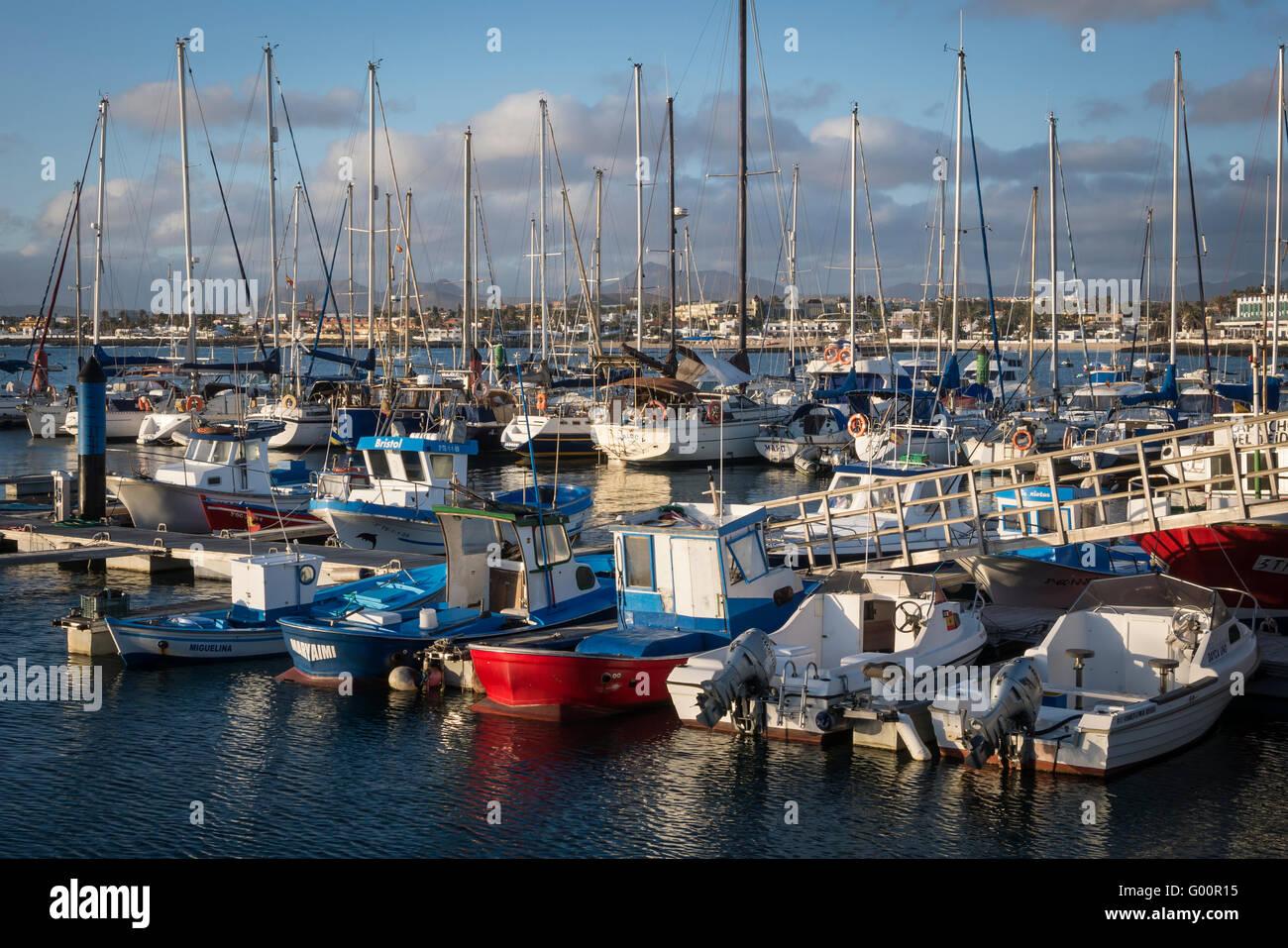 Marina Corralejo Fuerteventura-Kanarische Inseln-Spanien Stockfoto