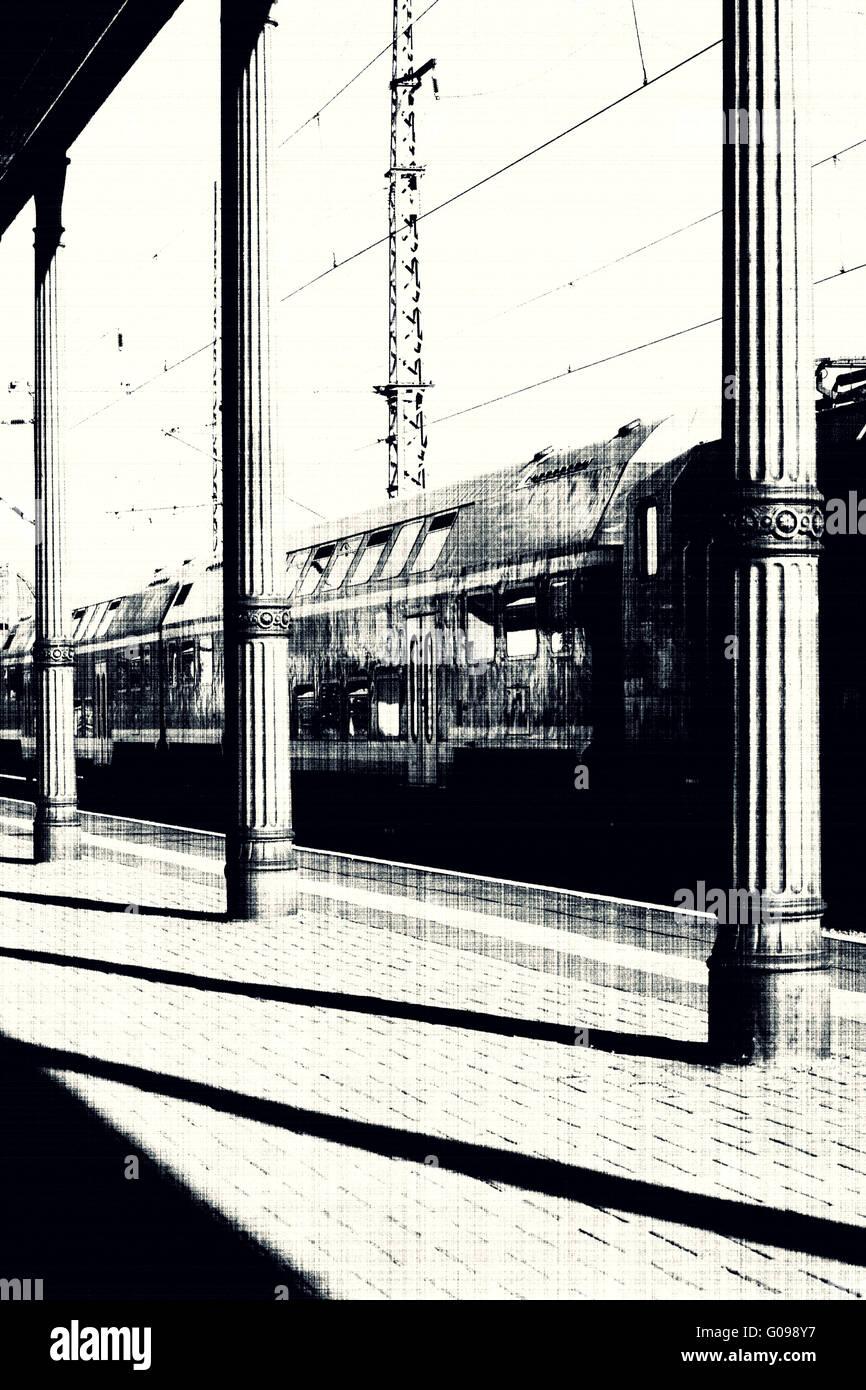 Geparkten Zug Stockbild