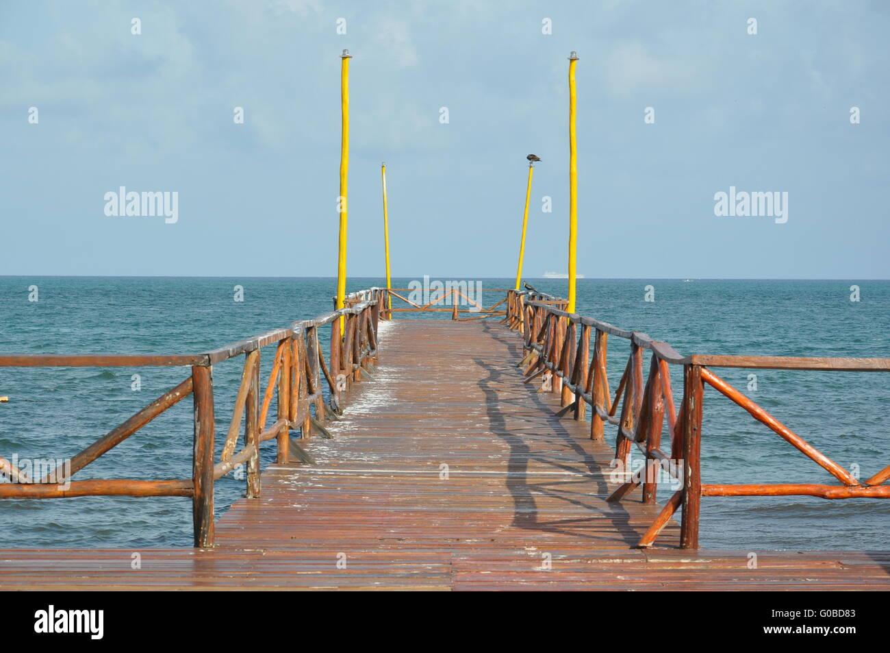 Caribian Steg Stockbild
