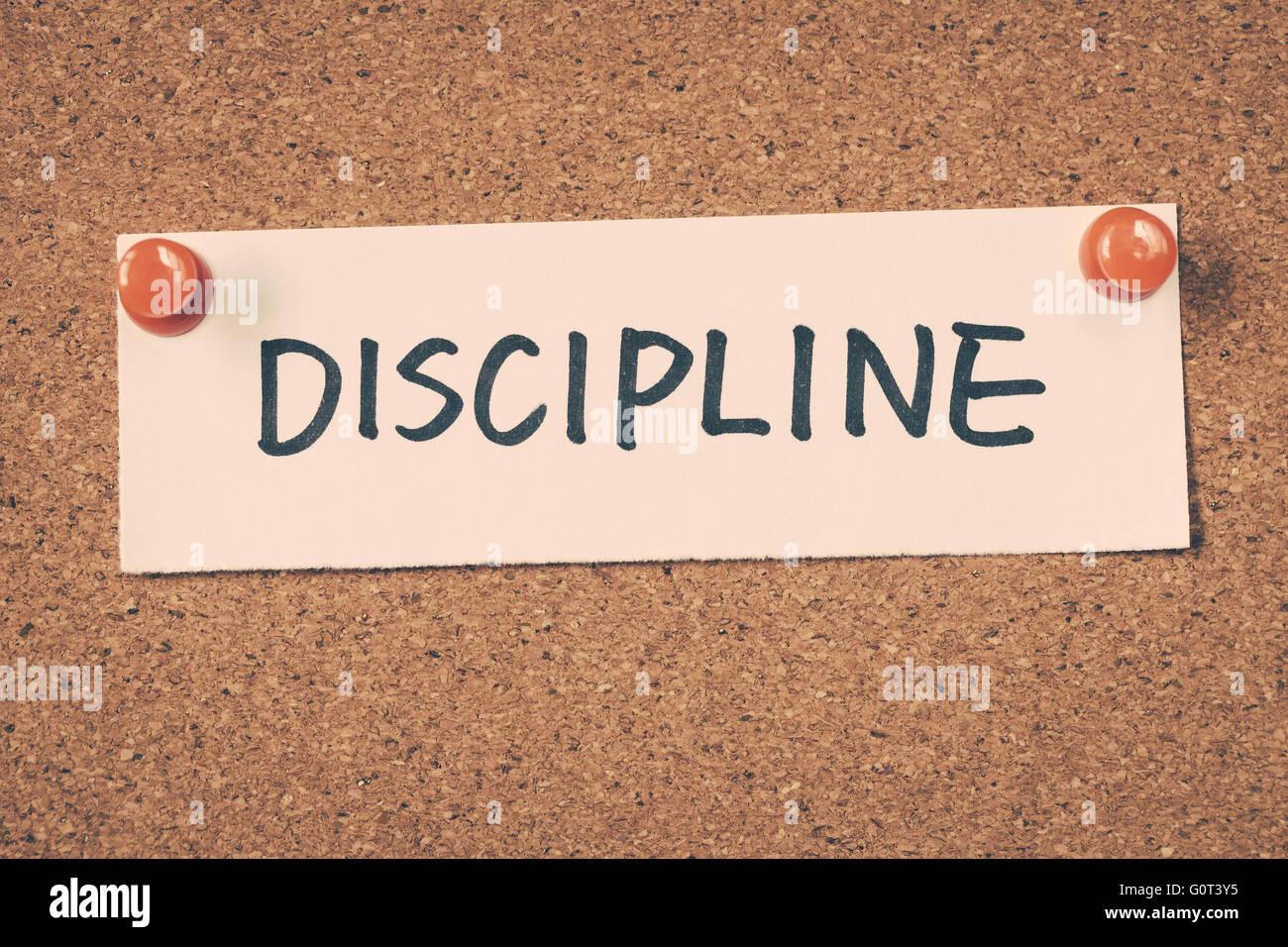 Disziplin Stockbild