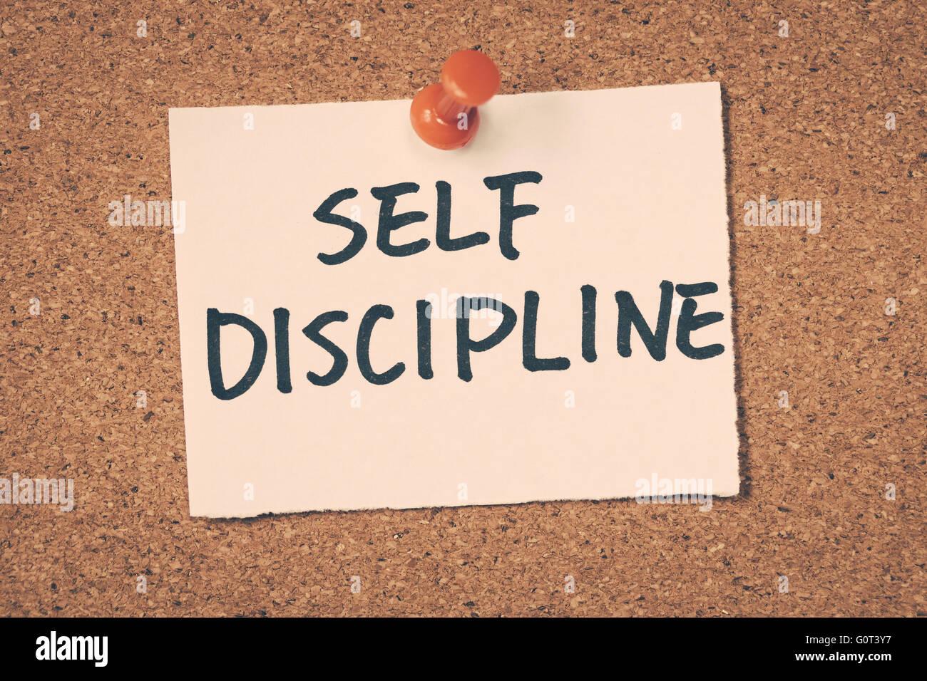 Selbstdisziplin Stockbild