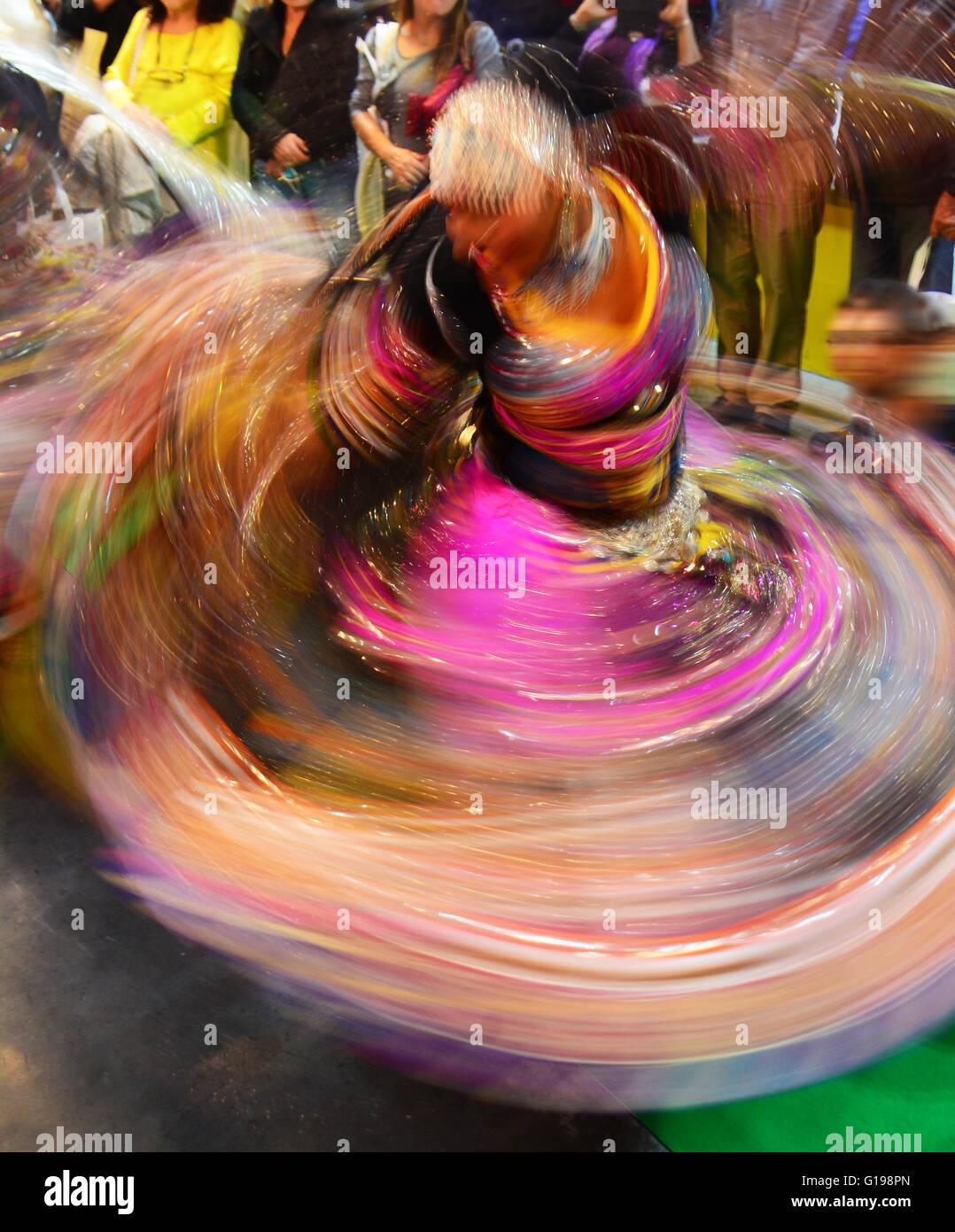 Ost-indischen Tanz, Bewegungsunschärfe, Stockbild