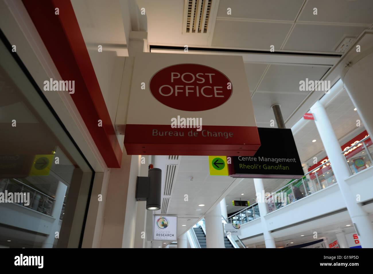 Postamt, Dienstleistungen, UK Stockbild