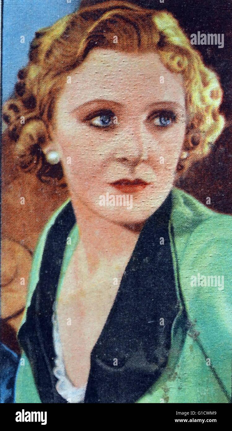 Lorna Hubbard, eine britische Schauspielerin. Vom 20. Jahrhundert Stockbild