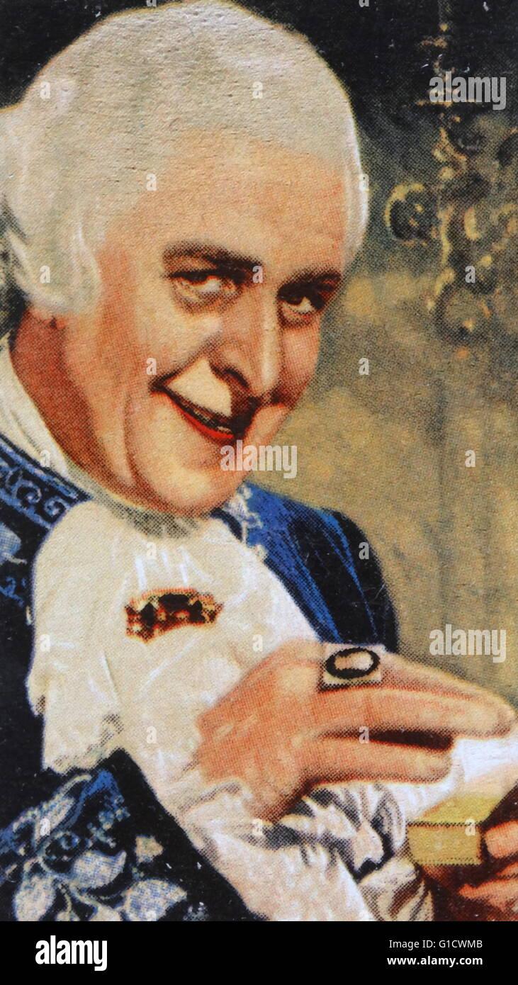 Reginald Owen, britischer Charakterdarsteller. Vom 20. Jahrhundert Stockbild