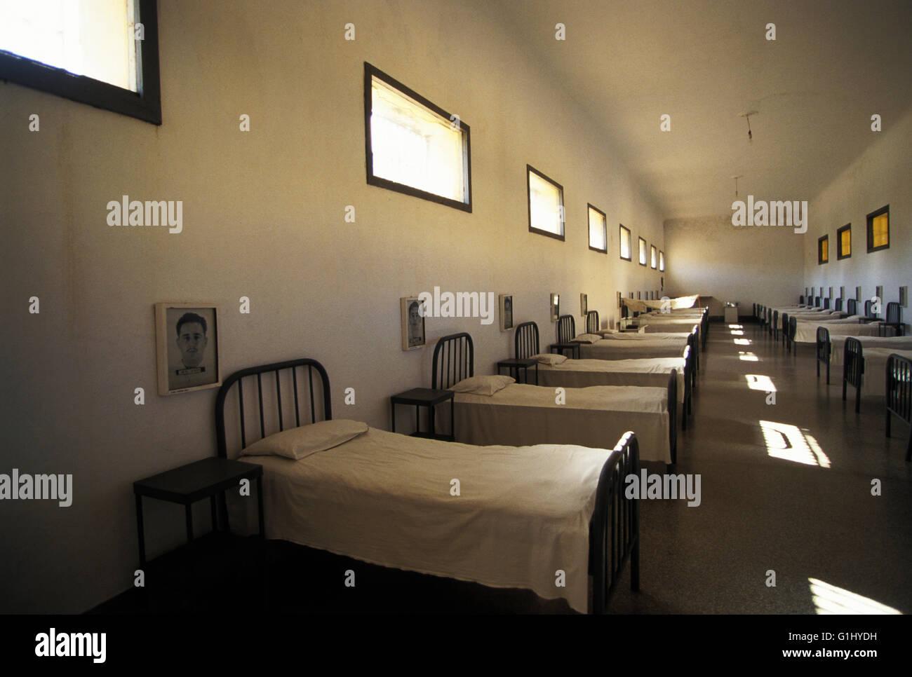 Fidel Castros Spitalabteilung bei Presidio Modelo, Modell-Gefängnis, wo er, vor der Revolution, zur Insel der Stockbild