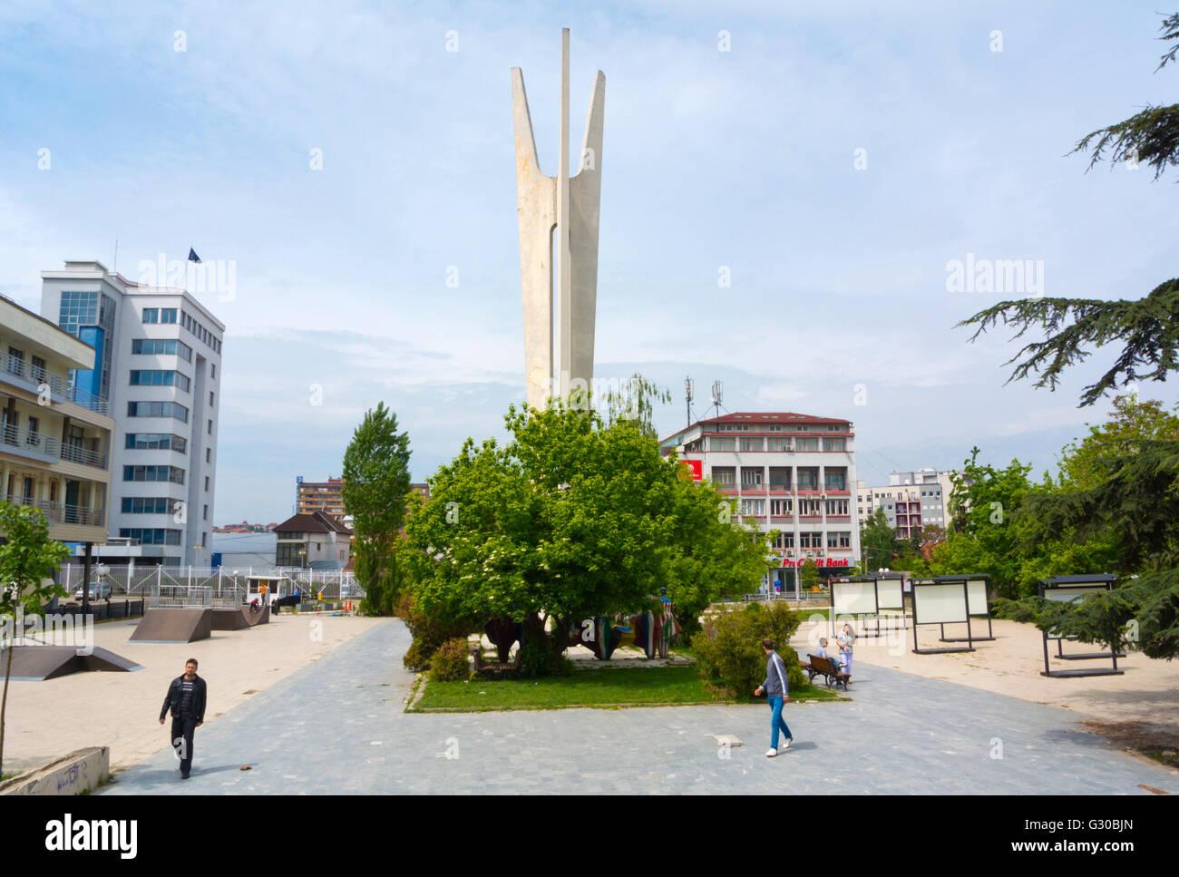 Denkmal der Brüderlichkeit und Einheit, Pristina, Kosovo, Serbien Stockbild