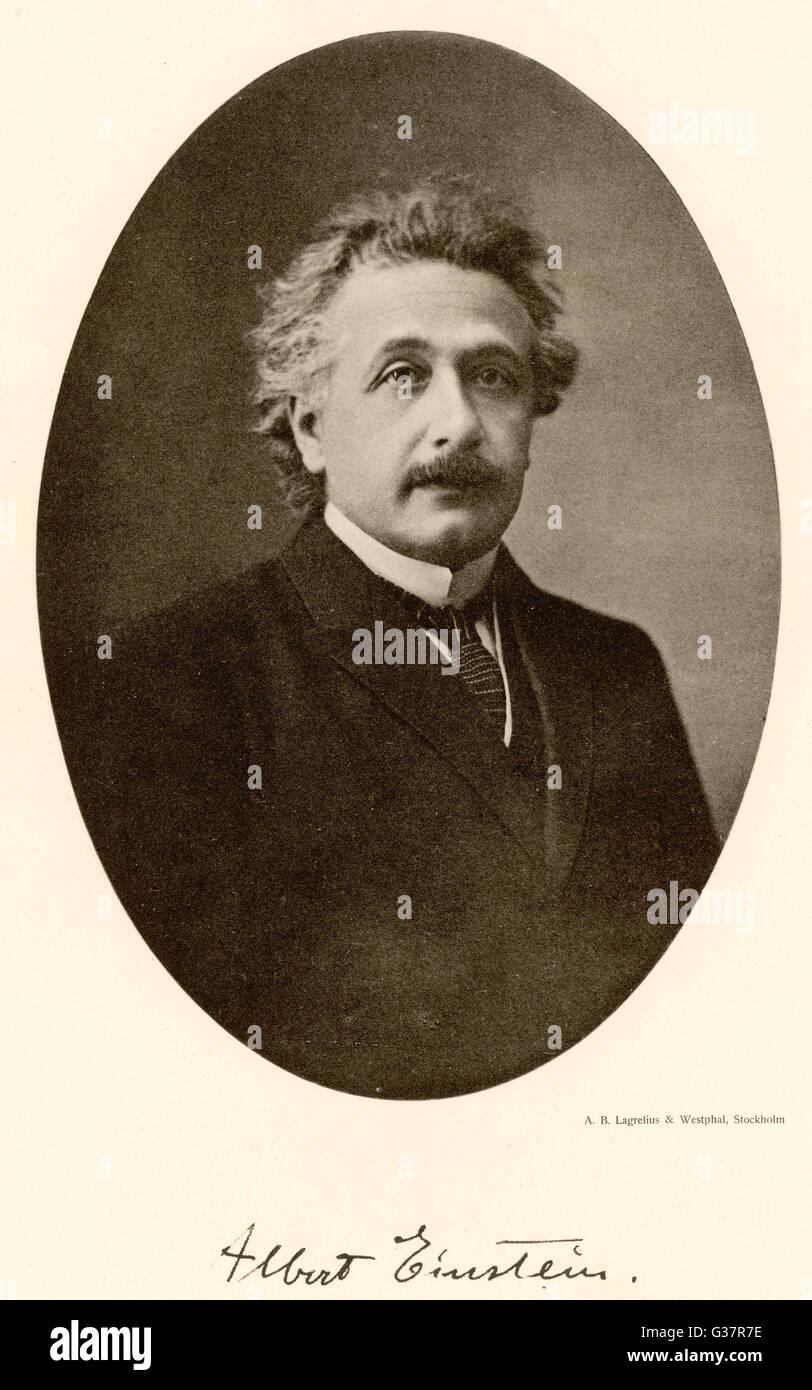 ALBERT EINSTEIN im Jahre 1922.        Datum: 1879-1955 Stockbild