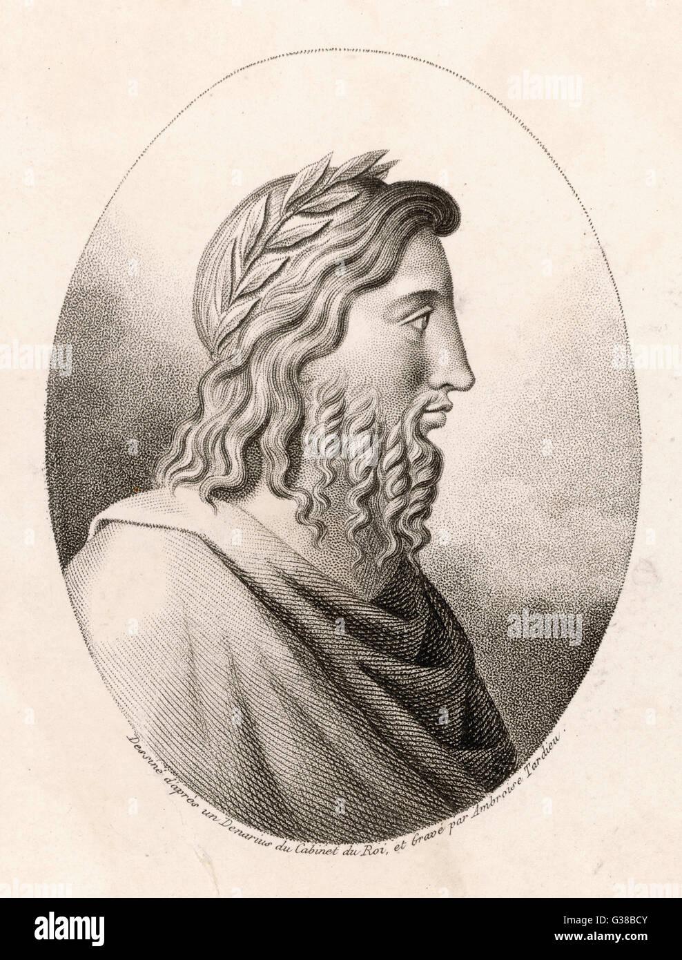 ROMULUS, der legendäre Gründer von Rom Datum: 769-717 v. Chr. Stockbild