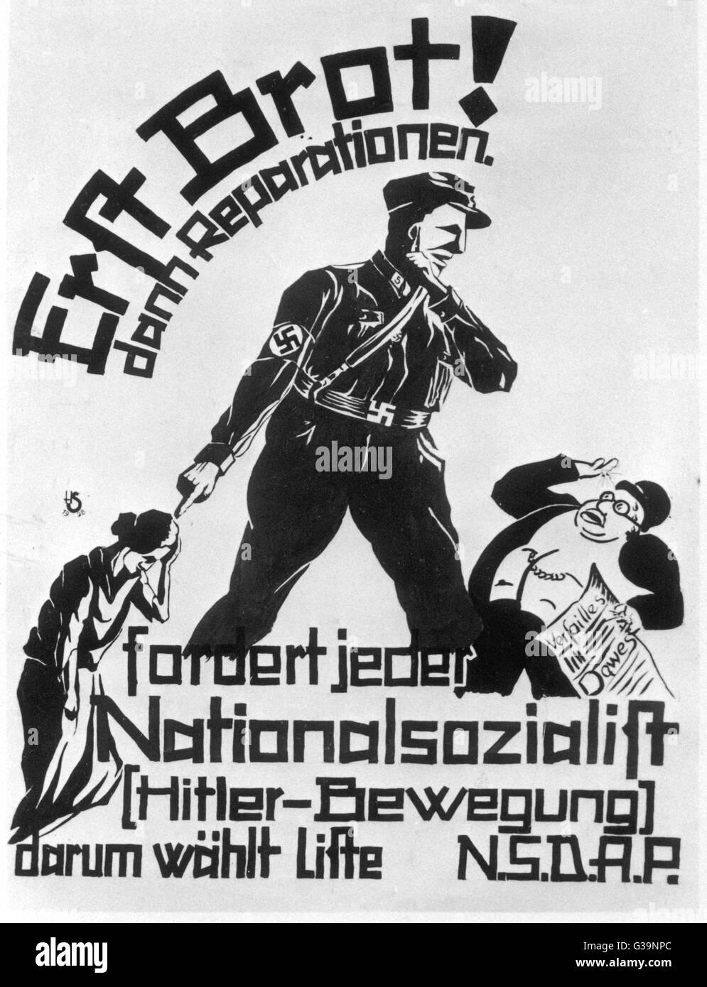 Zuerst Brot Dann Reparationen Nazi Propaganda Indem Das Deutsche