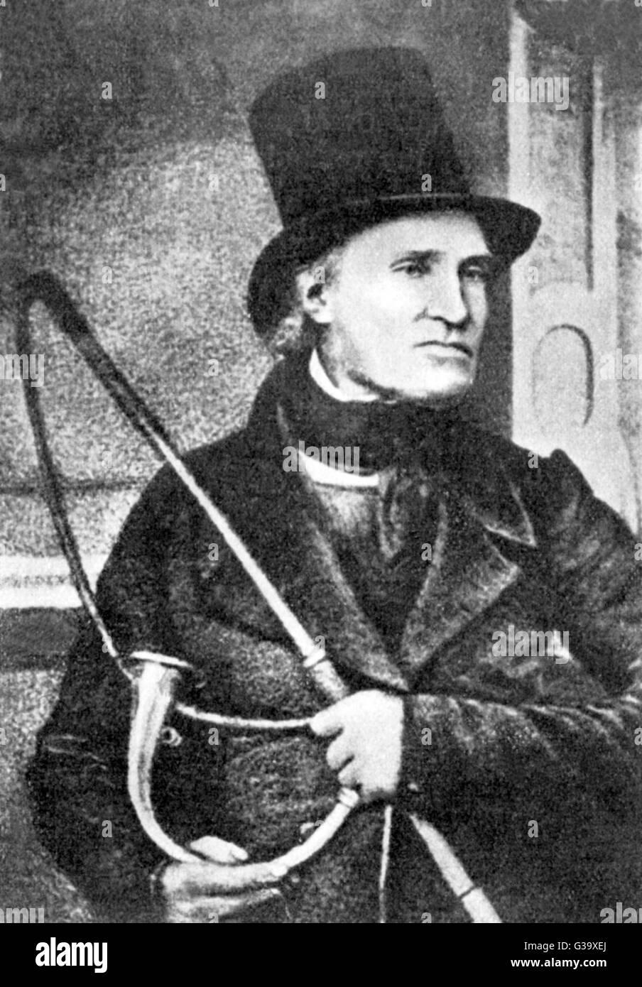 JOHN PEEL legendären Jäger Datum: 1776-1854 Stockbild