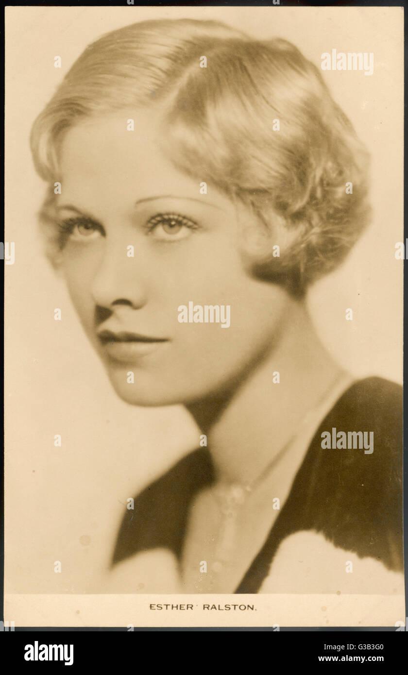 ESTHER RALSTON amerikanische Schauspielerin in 1920er und 30er Jahren filmt Datum: 1902 - Stockbild