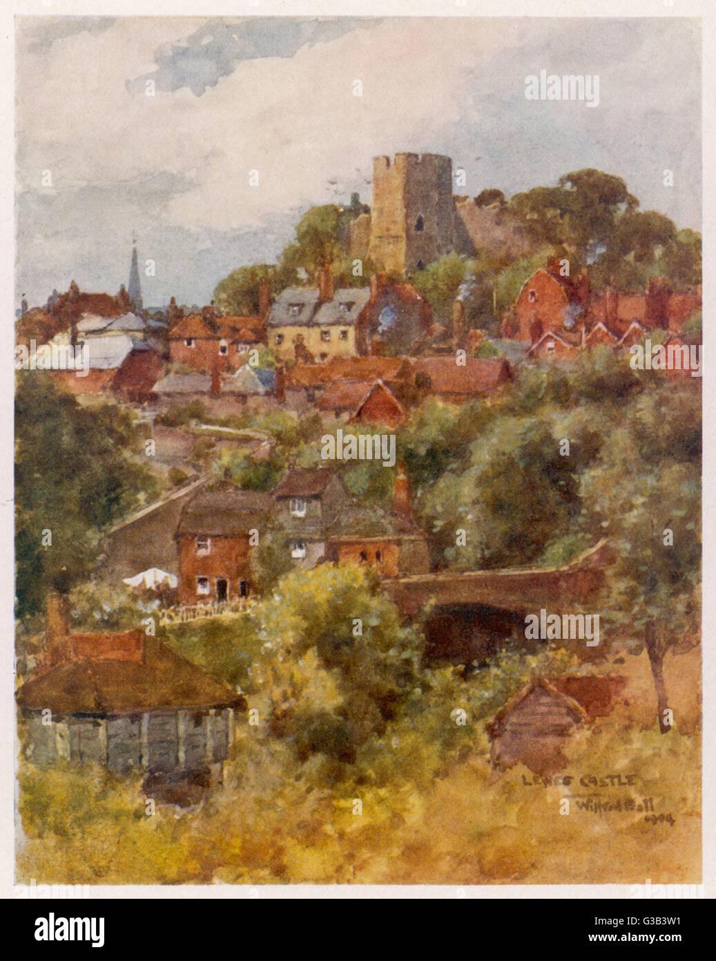 Lewes, Sussex Datum: 1906 Stockbild