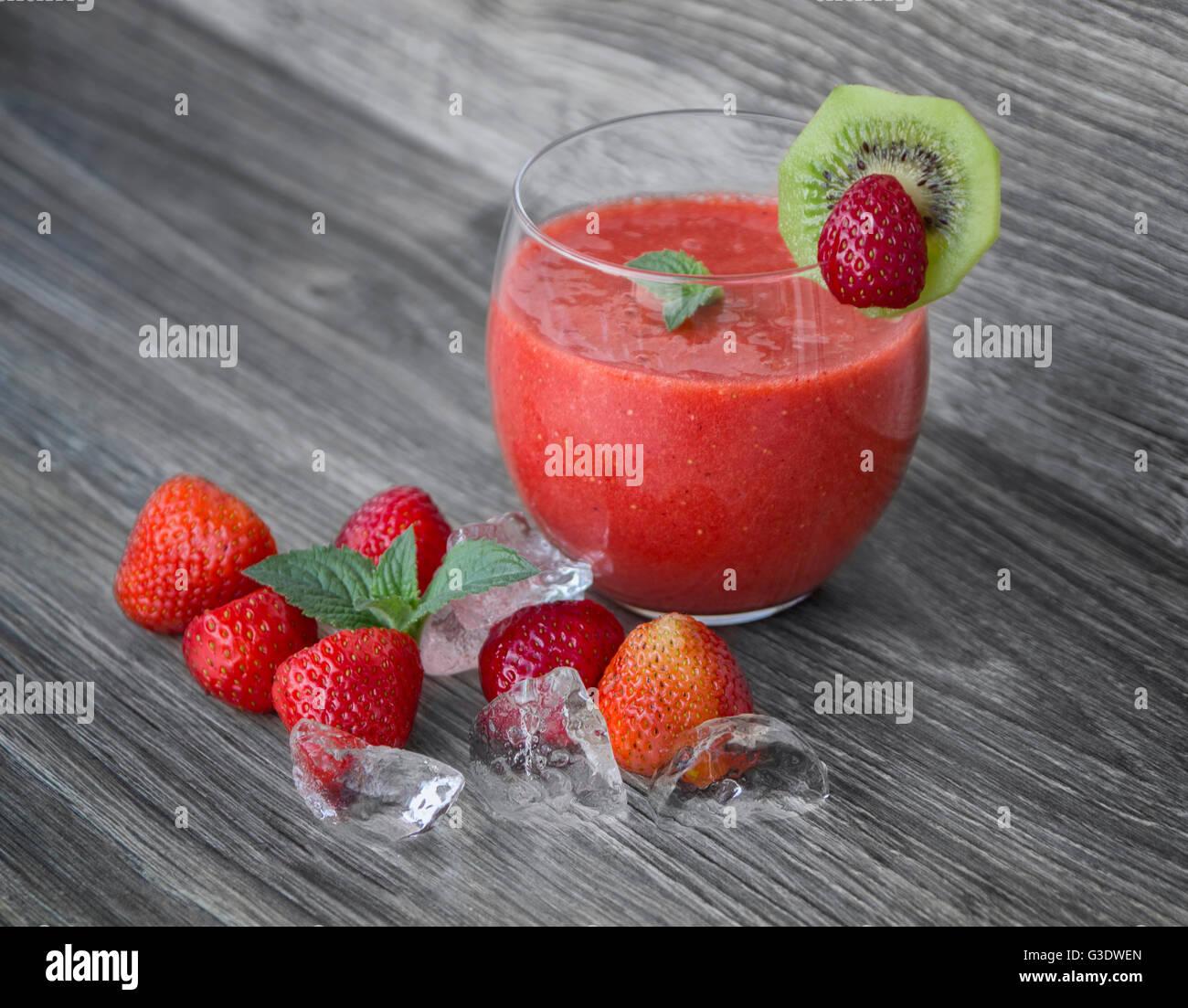 Erdbeere Smothie coctail Stockbild