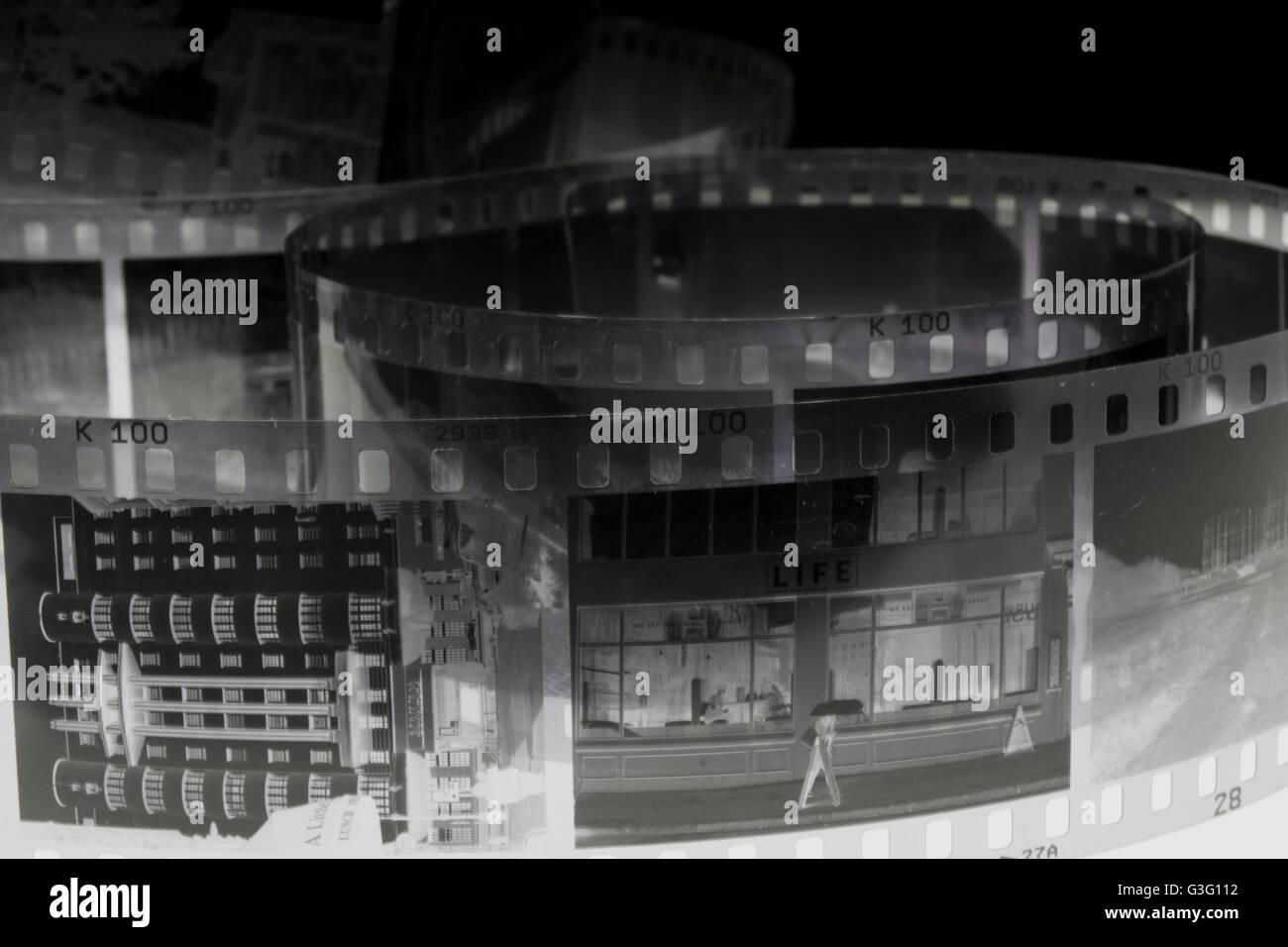 Negativen Schuss von Gebäuden Stockbild