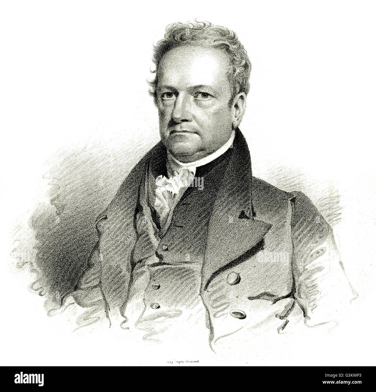 DeWitt Clinton, 1769-1828 Stockbild