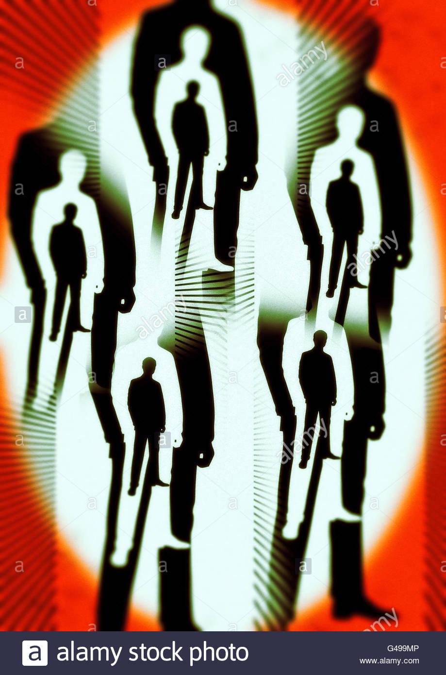 Männer in schwarzen Area 51 Verschwörung Roswell Abbildung Stockfoto