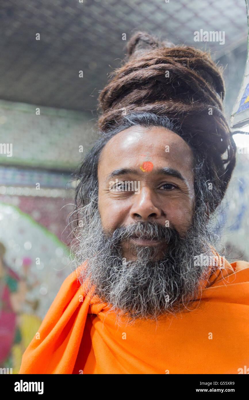Sadhu ist Im Hinduismus Ein Oberbegriff Für Jene sterben, Sich Einem Religiösen, Teilweise Streng Asketischen Stockbild