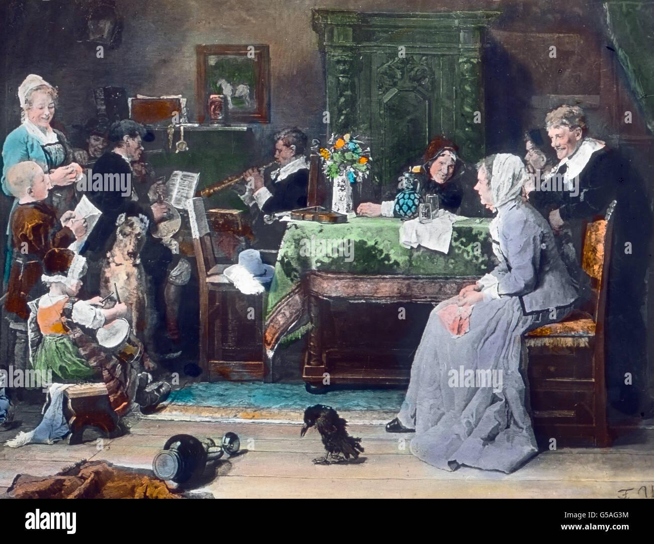 Familienkonzert Gem Lde Von Fritz Von Uhde Weihnachten