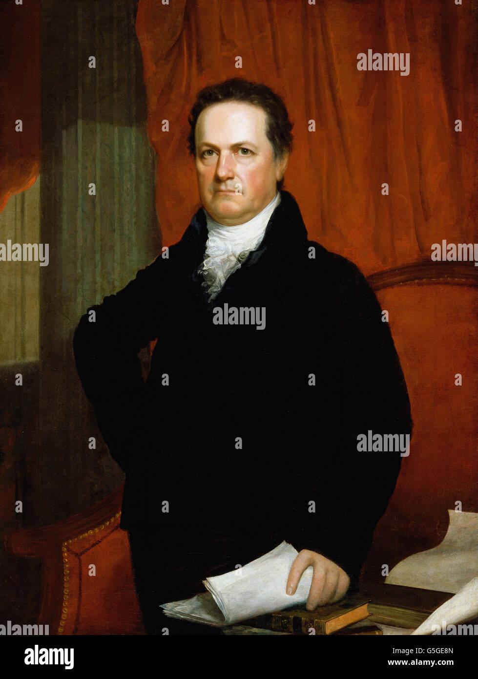 John Wesley Jarvis - Portrait von DeWitt Clinton (ca. 1816) Stockbild