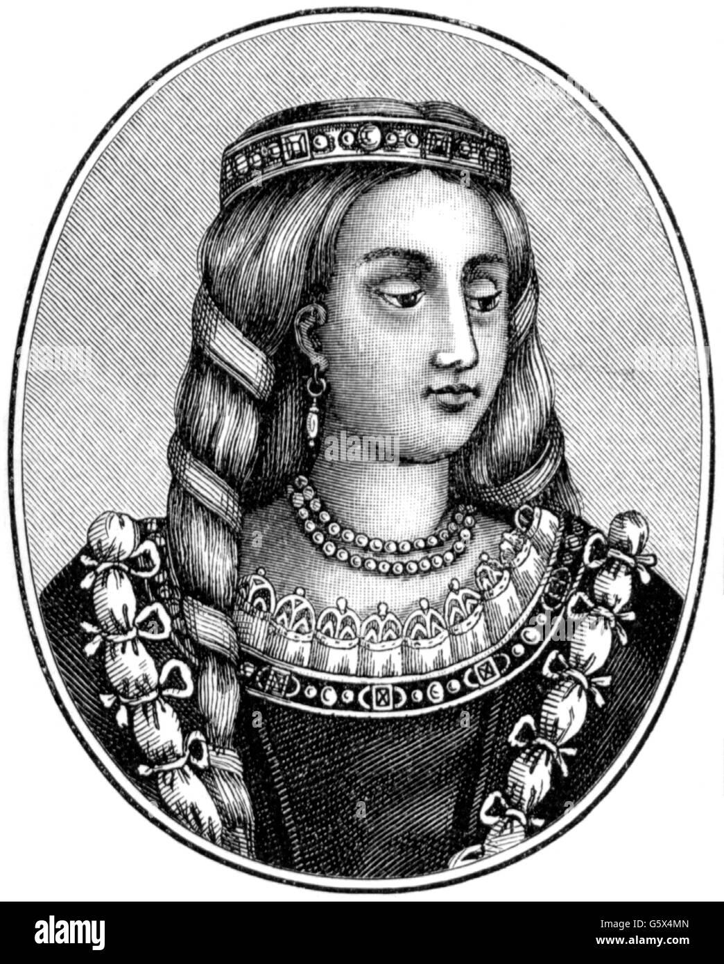 Joan Beaufort, Queen Consort von Schottland Stockbild