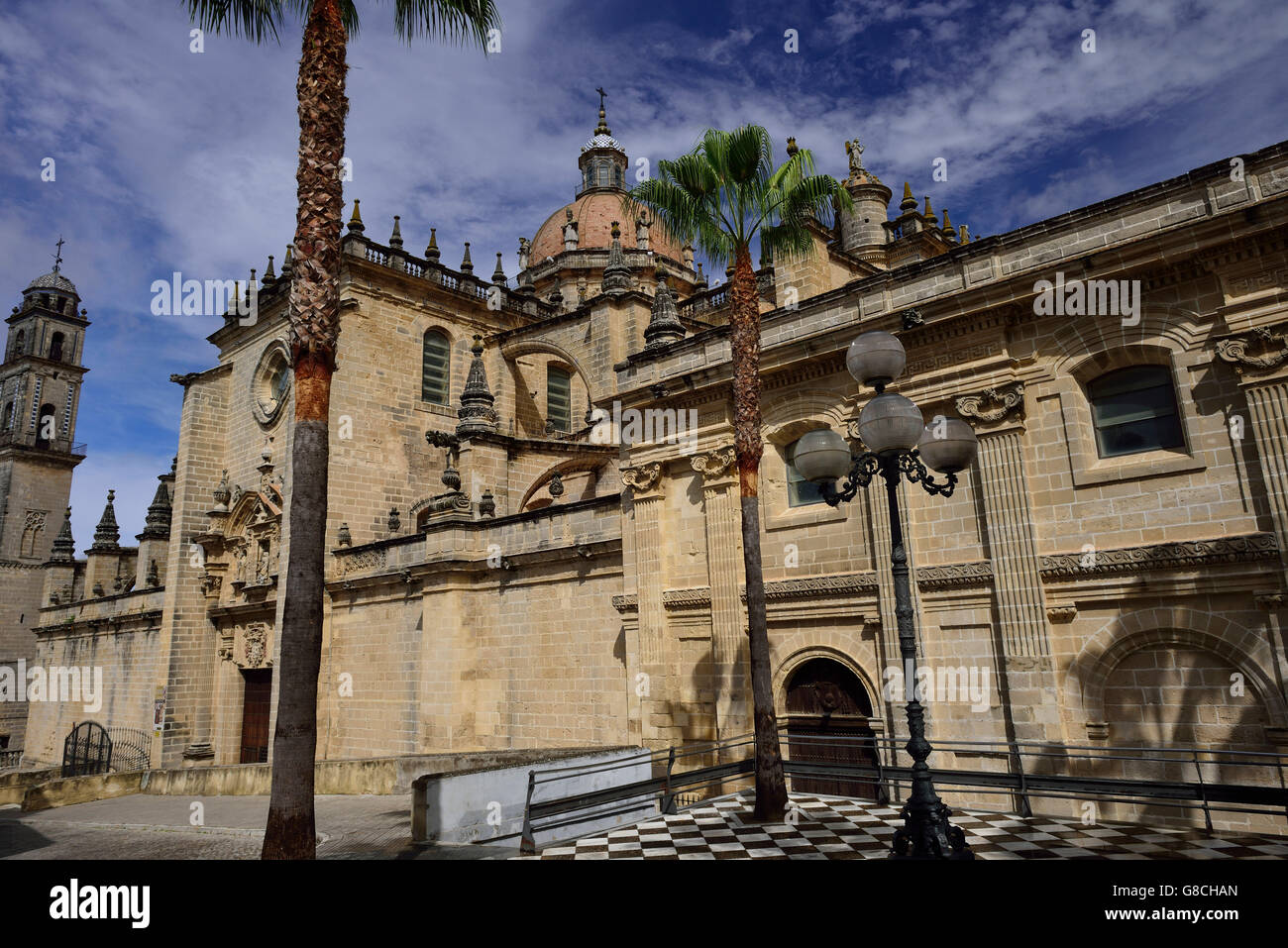 Kathedrale, Jerez De La Frontera, Andalusien, Spanien Stockbild