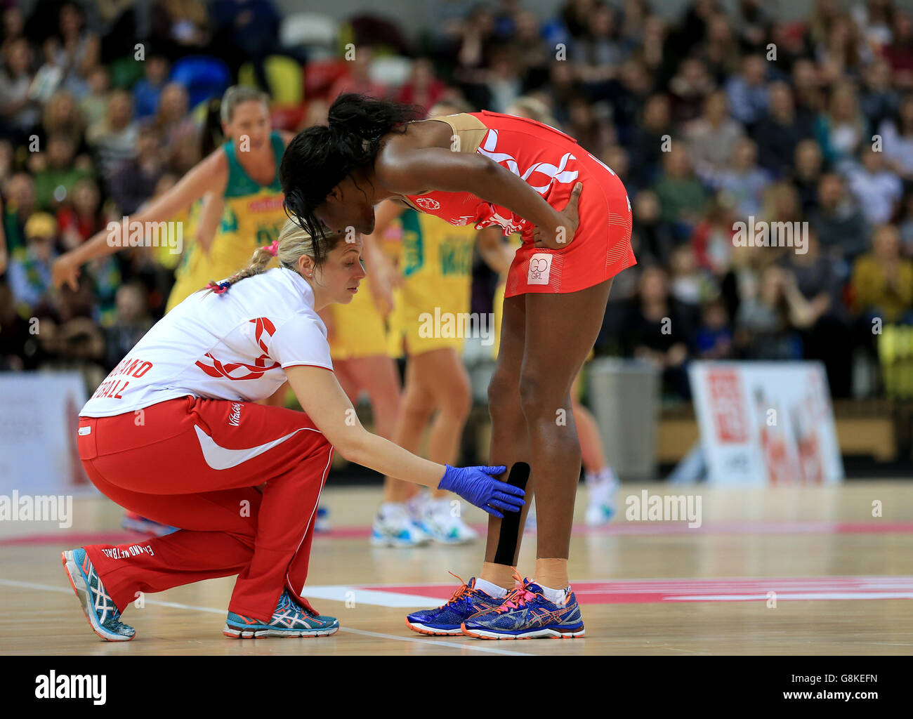 England V Australien - International Netball Series - dritten Match - Copper Box Stockfoto