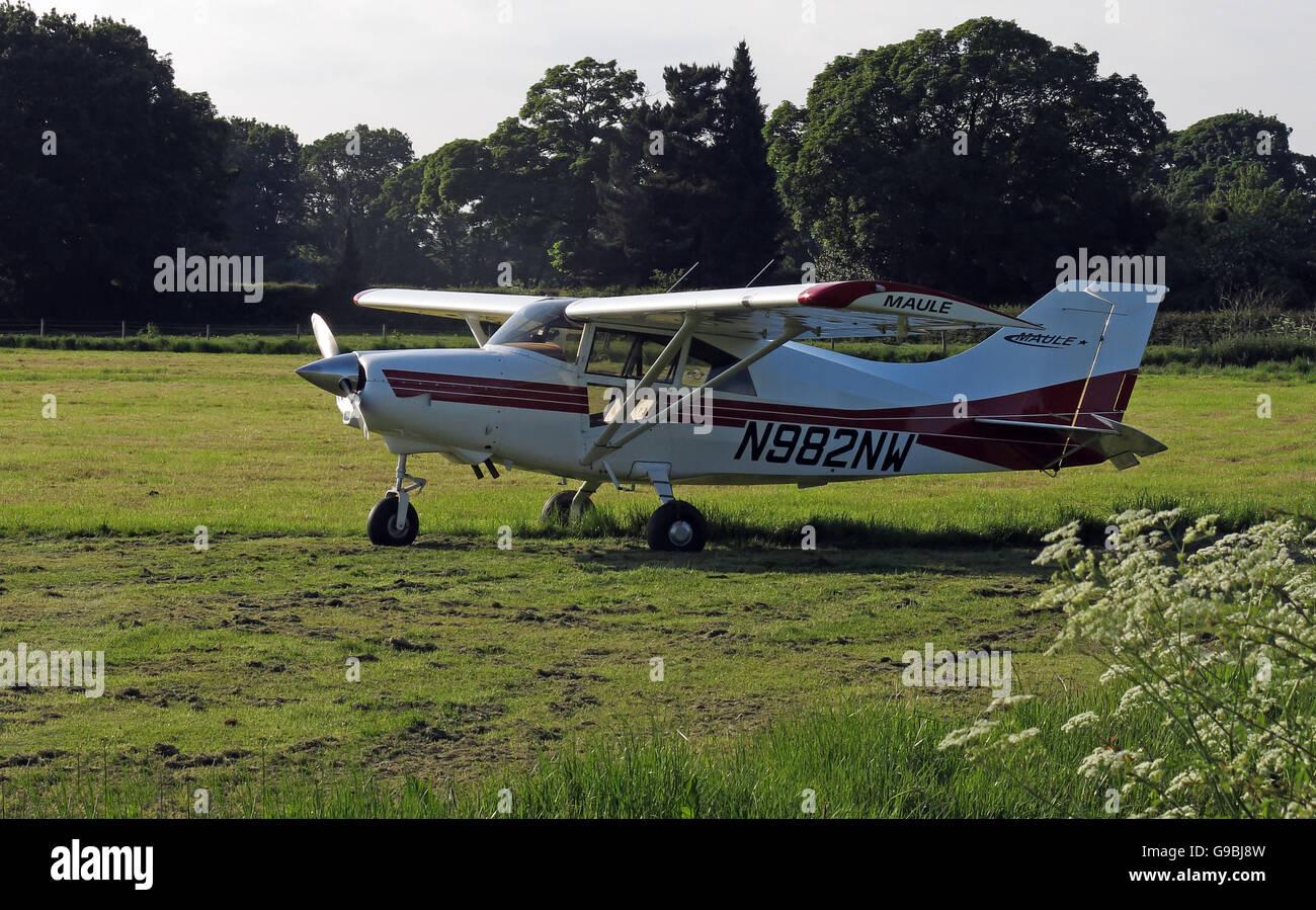 Laden Sie dieses Alamy Stockfoto Maule MXT7 N982NW, in einem Feld Lymm, Cheshire, England, UK - G9BJ8W