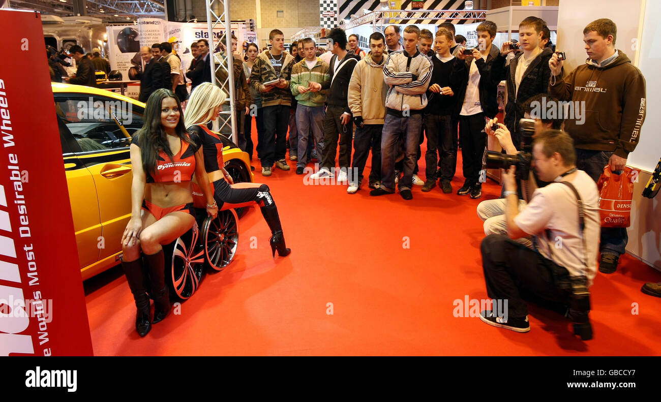 Autosport International show Stockbild
