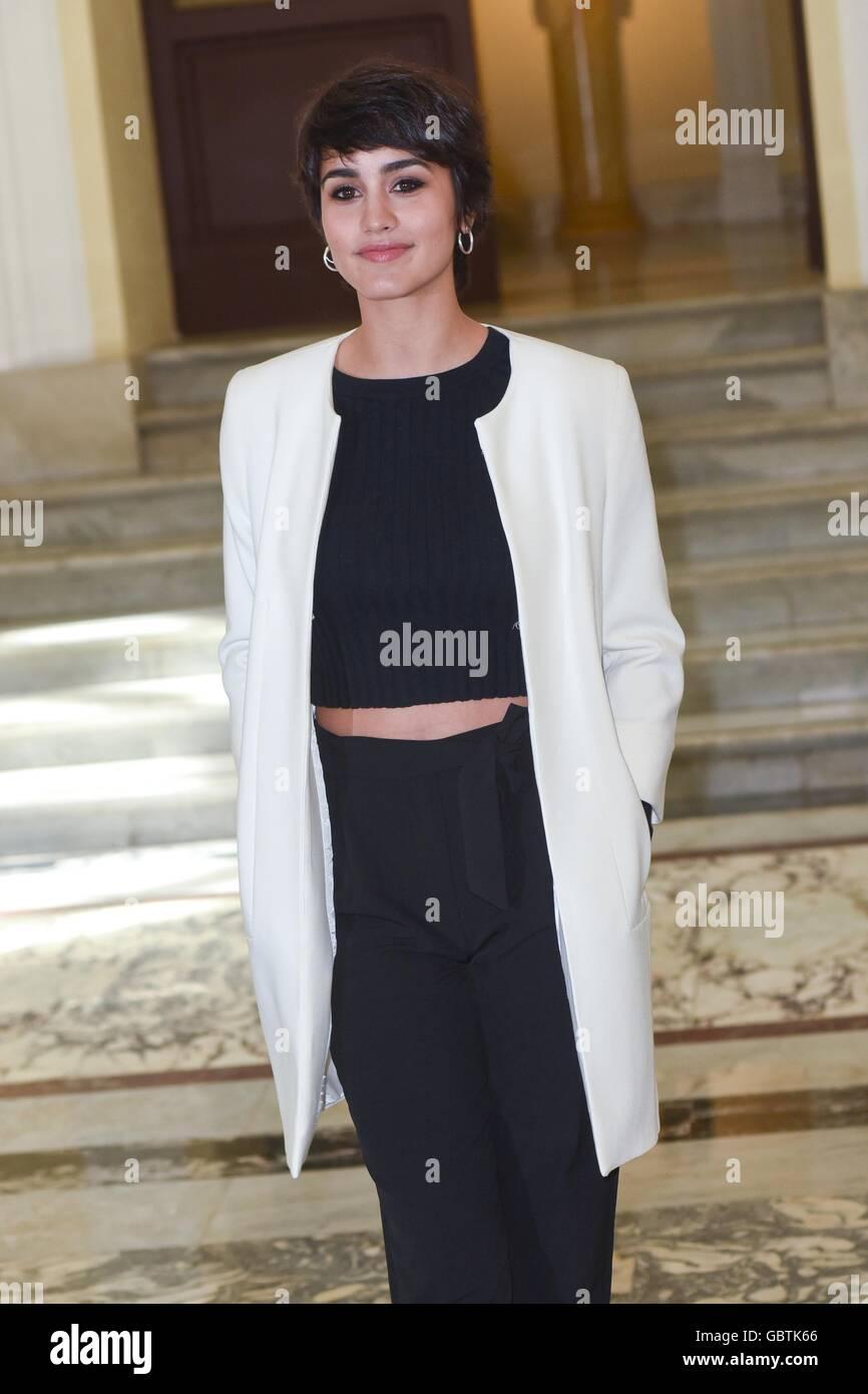 Megan Montaner, spanische Schauspielerin, Rom, Italien, 29. März 2016 Kredit © Fabio Mazzarella/Sintesi/Alamy Stockbild