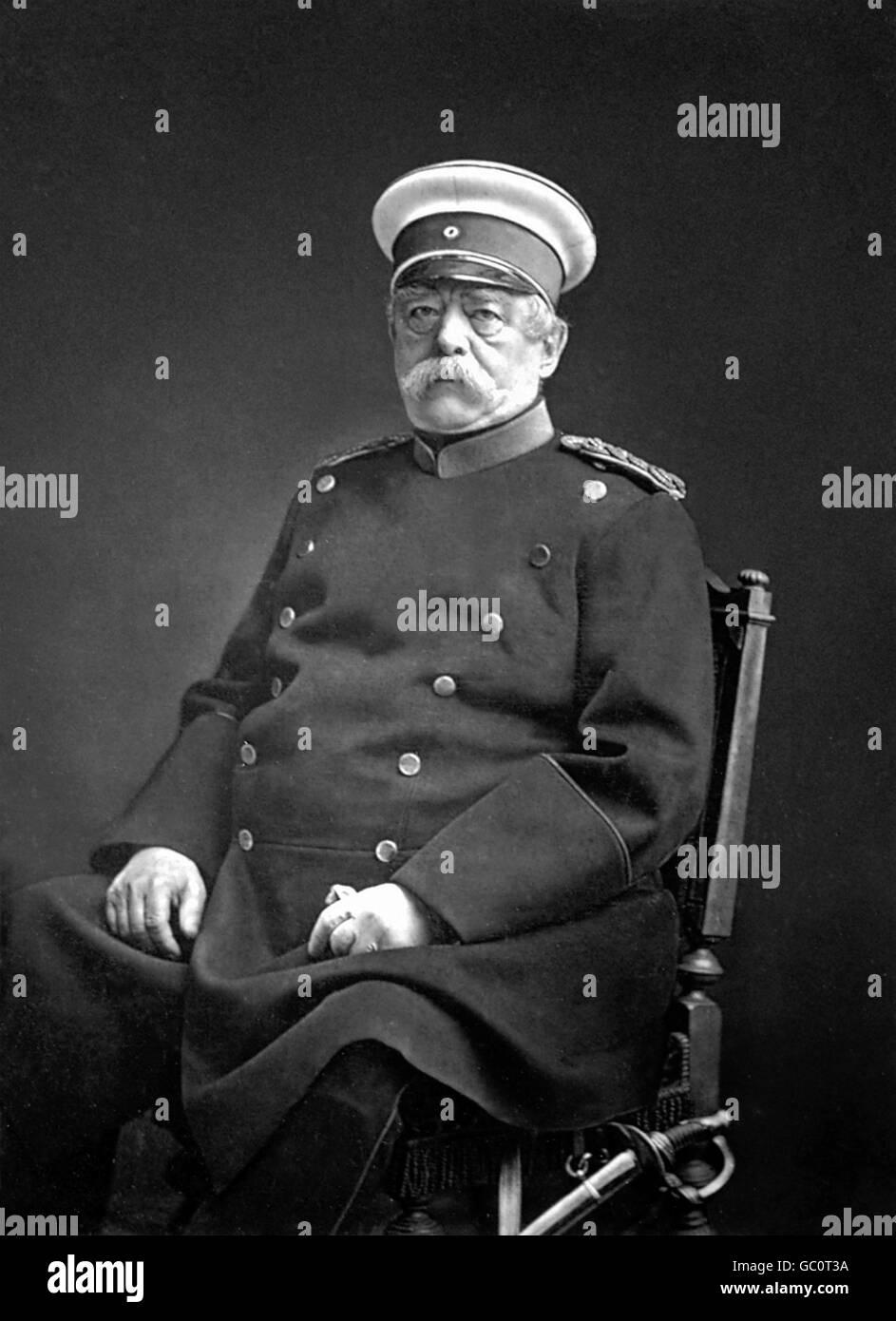Otto von Bismarck. Porträt von Otto Eduard Leopold, Fürst von Bismarck, Herzog von Lauenburg (1815-1898), Stockbild