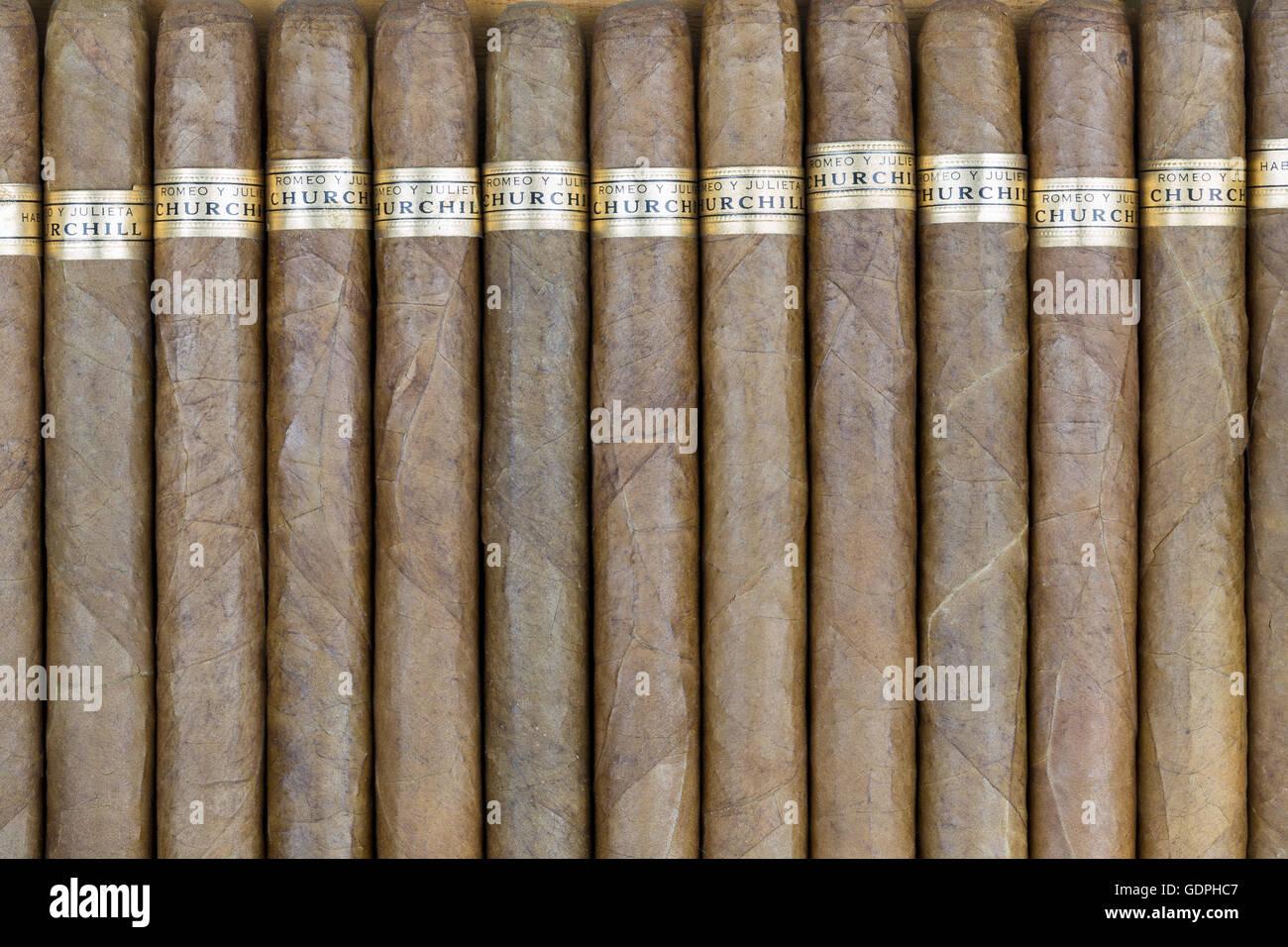 Kubanische Zigarren Romeo y Julieta (Romeo und Julia) Stockbild