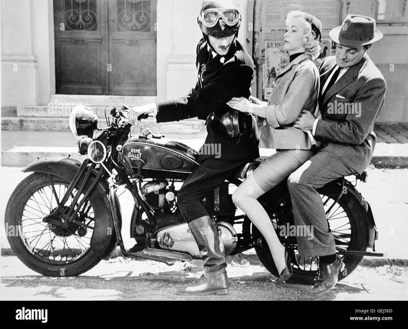 ?, Barbara Laage, Gene Kelly Als Dannys Vater Mike (Gene Kelly) Und Janines Mutter Suzanne (Barbara Laage) Erfahren, Stockbild