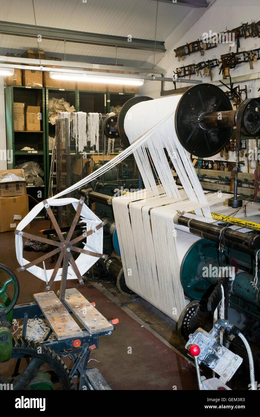Herstellung von Öl-Pads für Dampfmaschinen in North York Moors historische Eisenbahn, Grosment, North Stockbild