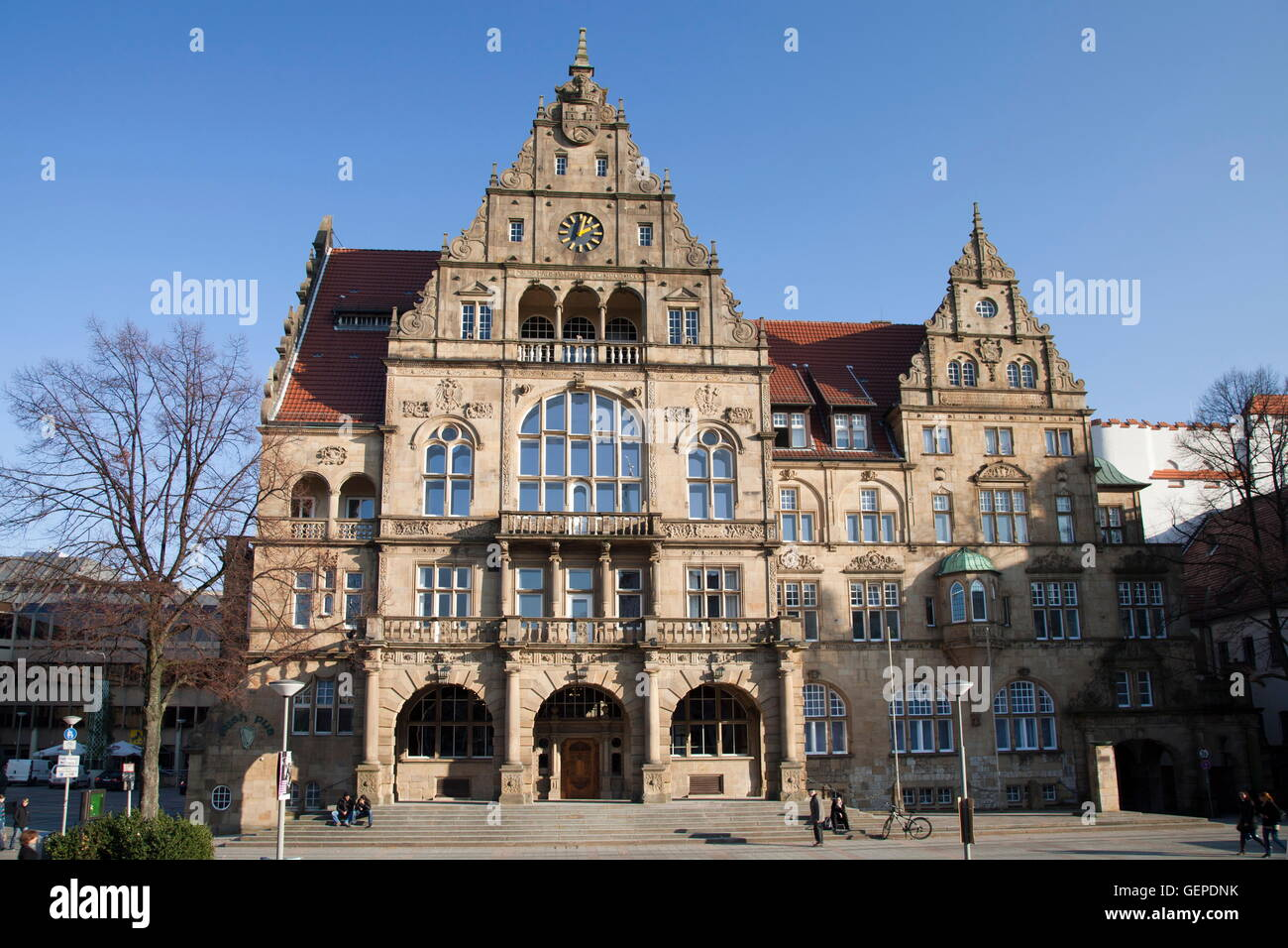 bielefeld germany town stockfotos bielefeld germany town. Black Bedroom Furniture Sets. Home Design Ideas