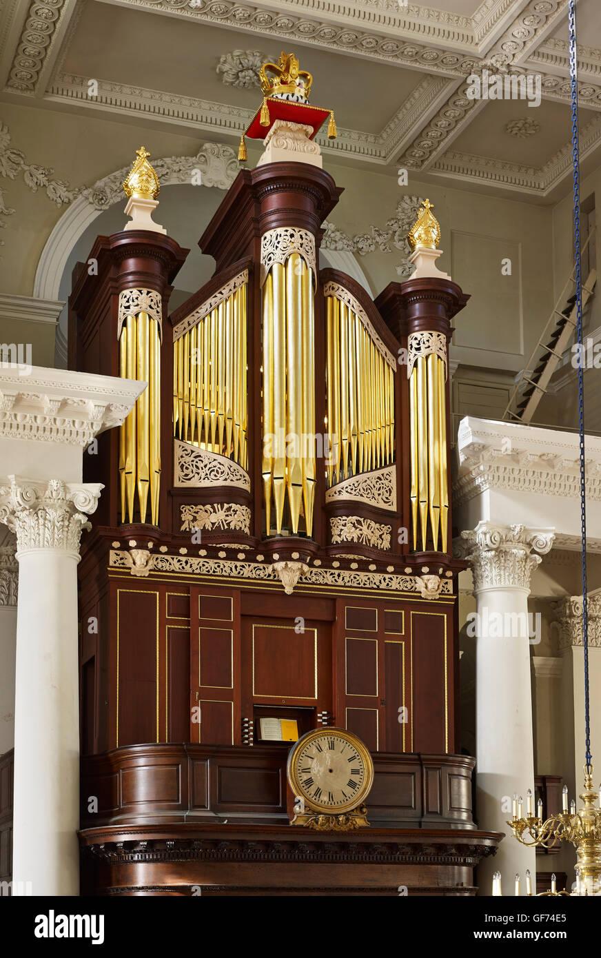 Christuskirche Spitalfields Orgel von Richard Brücke Stockbild