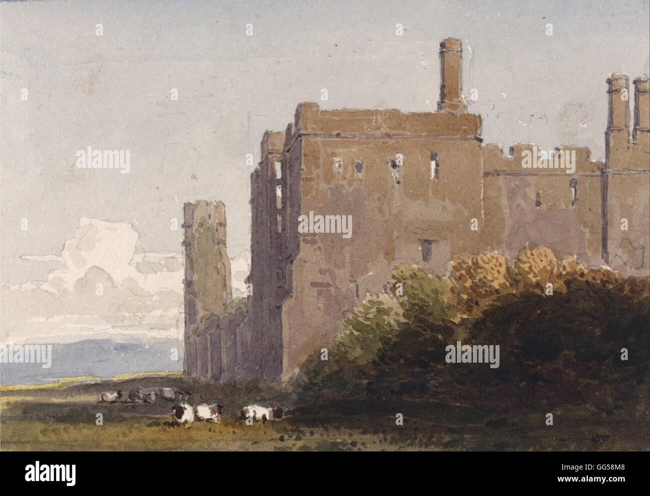 David Cox - Battle Abbey, Sussex Stockbild