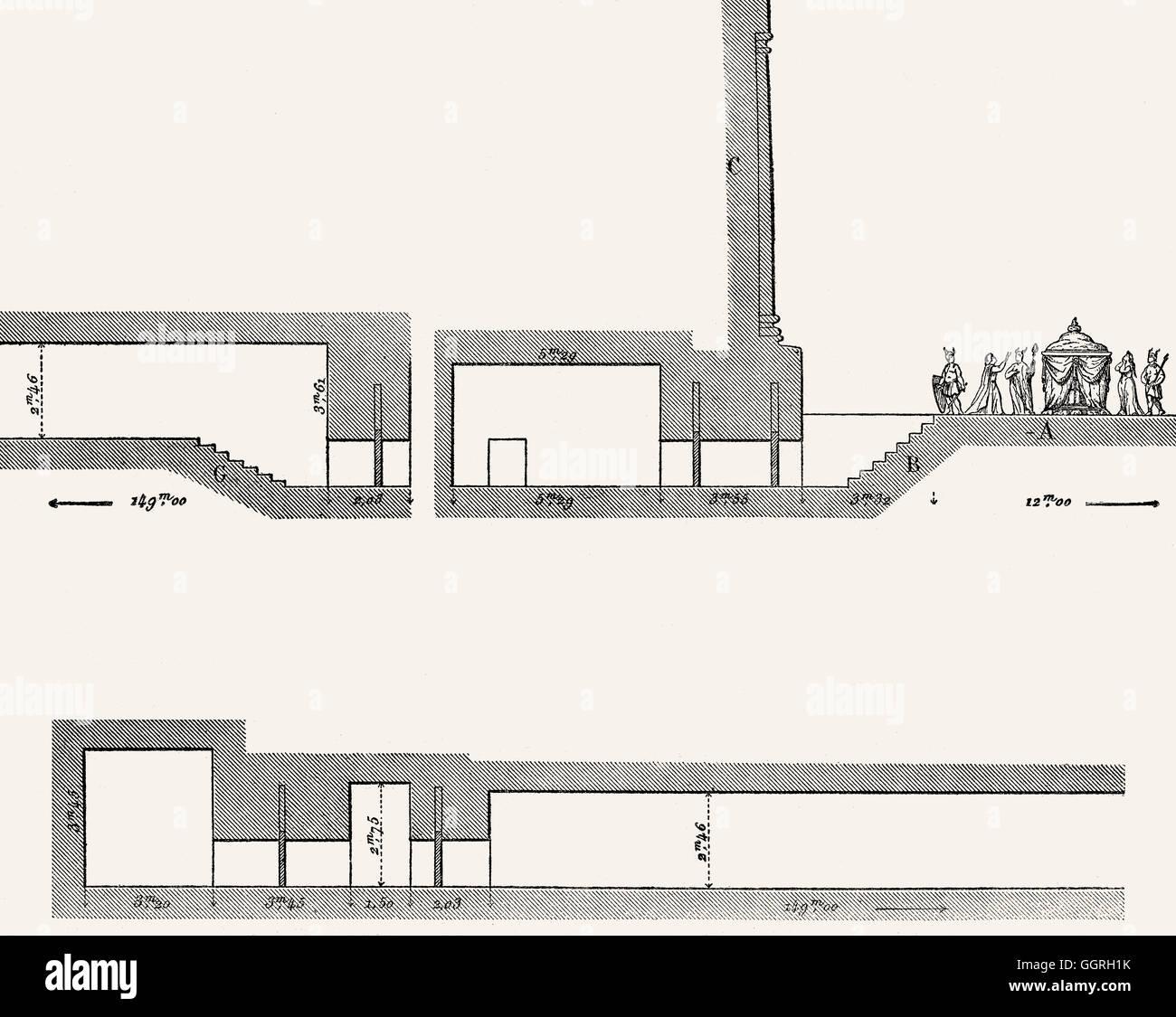 Rekonstruktion von Madghacen oder Medracen, ein königlicher Mausoleum-Tempel der Berber numidischen Könige, Stockbild
