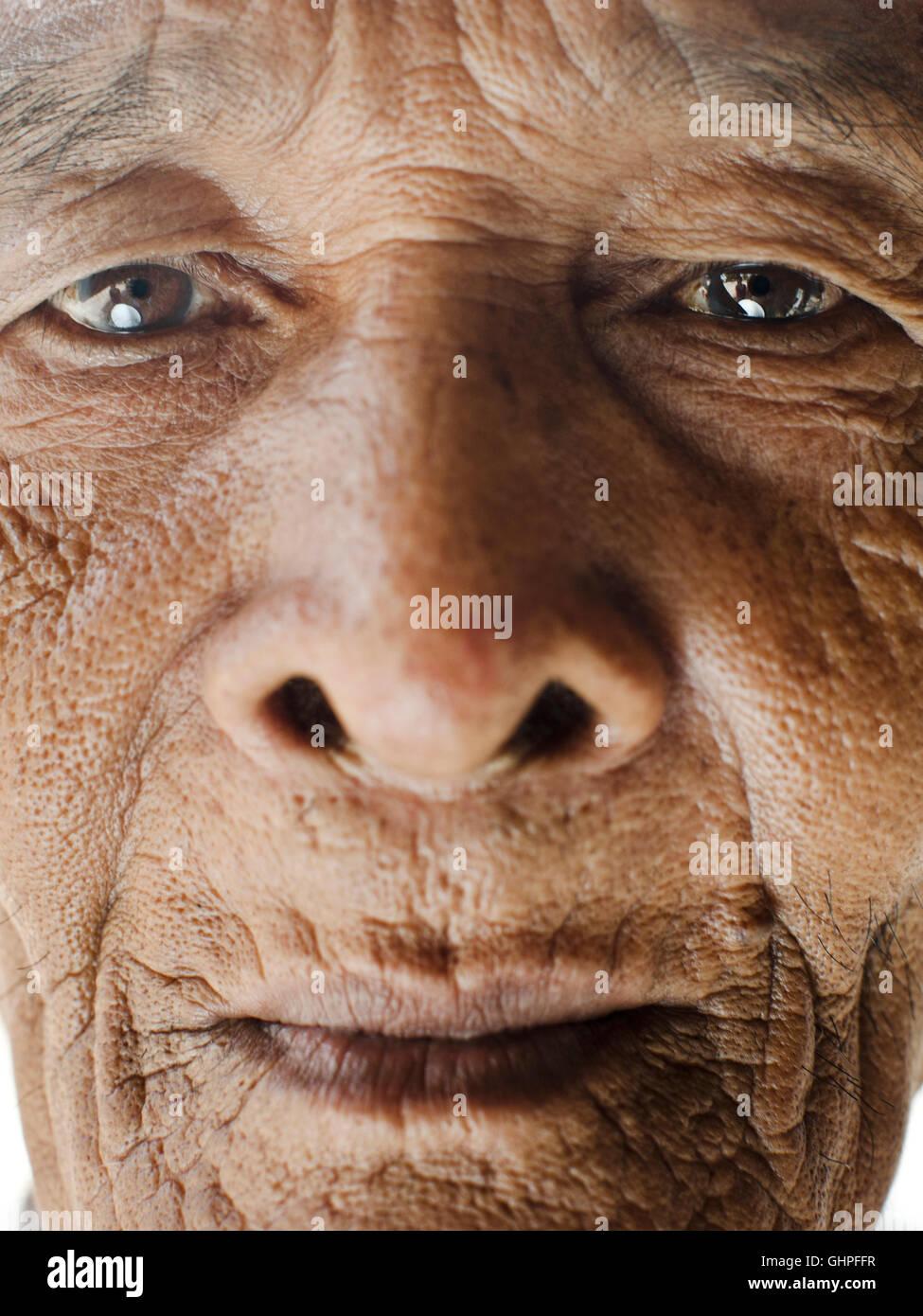 Porträt der Musiker beherrschen Umm Chhoeum. Wat Atwea, Siem Reap, Kambodscha... Umm Musiklehrerin Kantoam Stockbild