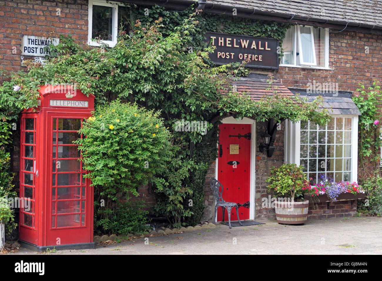 Laden Sie dieses Alamy Stockfoto Alte Post, Bell Lane, Thelwalls, Warrington, Cheshire, England, UK - GJBM4N
