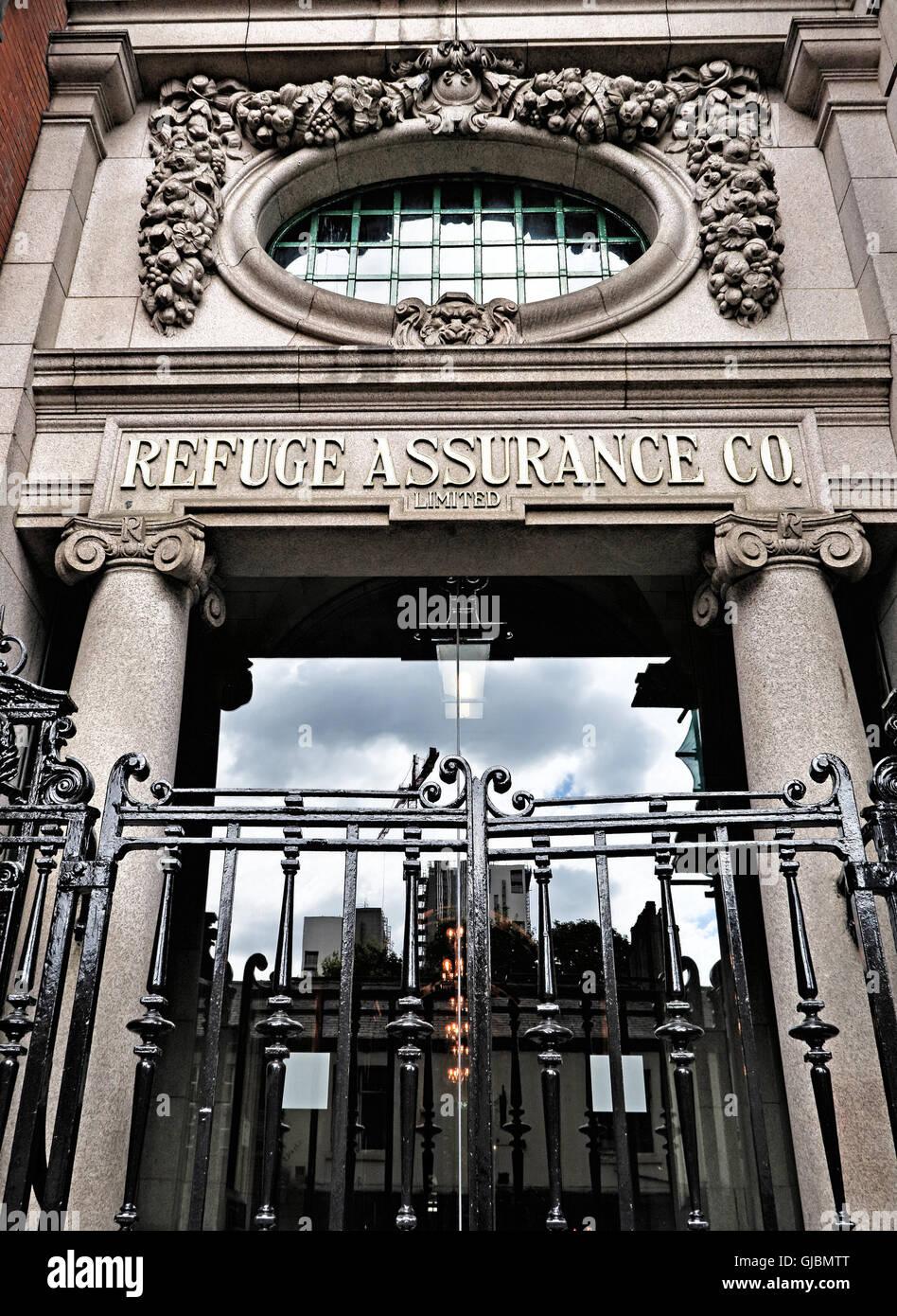 Laden Sie dieses Alamy Stockfoto Refuge Assurance Bürogebäude, Oxford Road Manchester, - GJBMTT