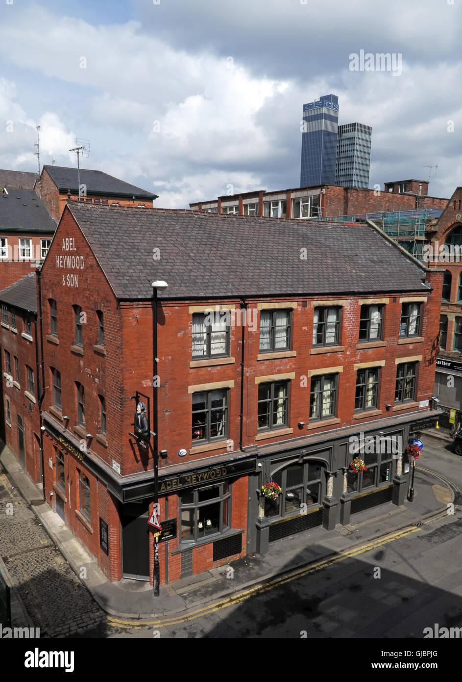 Laden Sie dieses Alamy Stockfoto Der Abel Heywood, 38 Turner St, Northern Quarter, Manchester, UK, M4 1 DZ, GUS-Gebäude im Hintergrund - GJBPJG